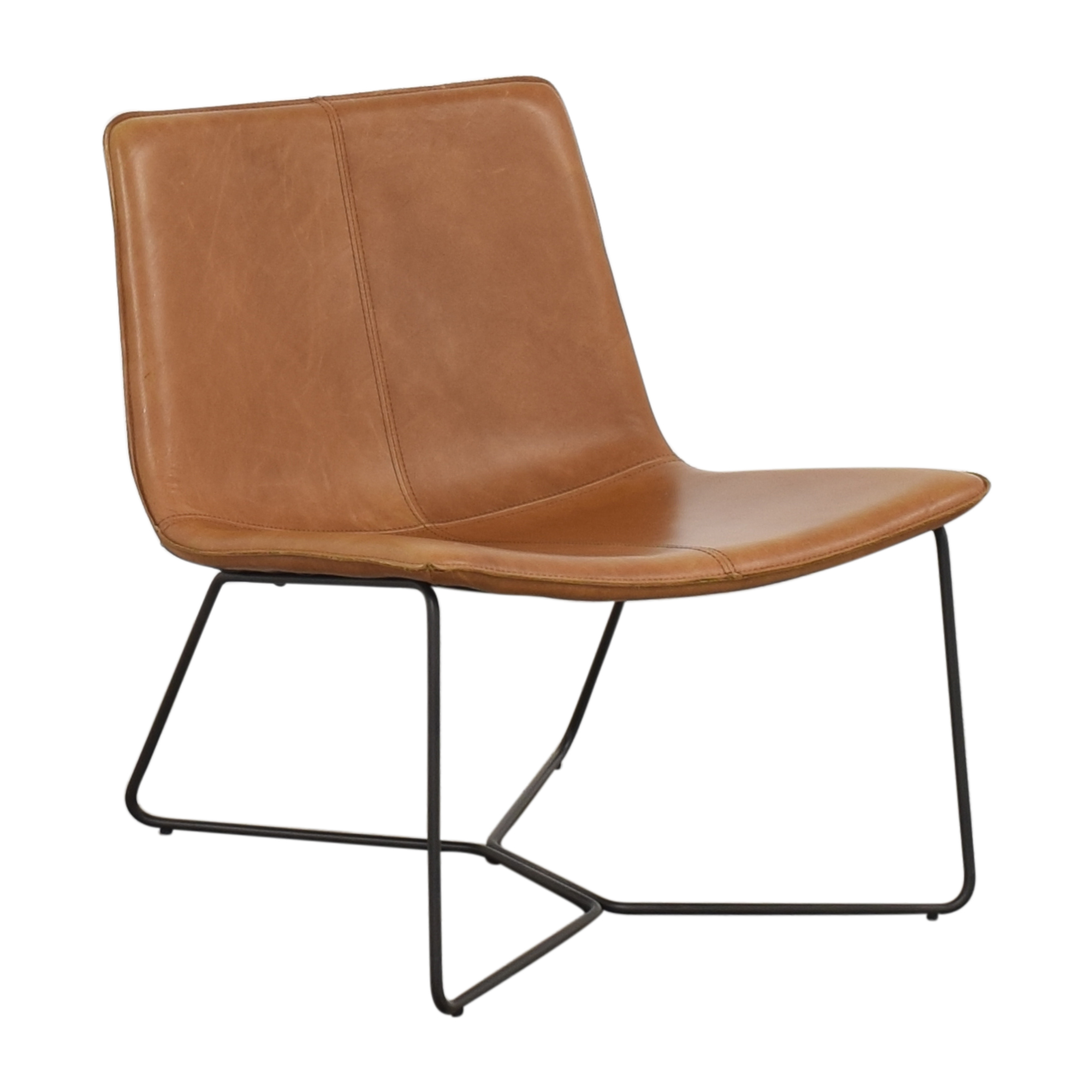 West Elm West Elm Slope Leather Lounge Chair second hand