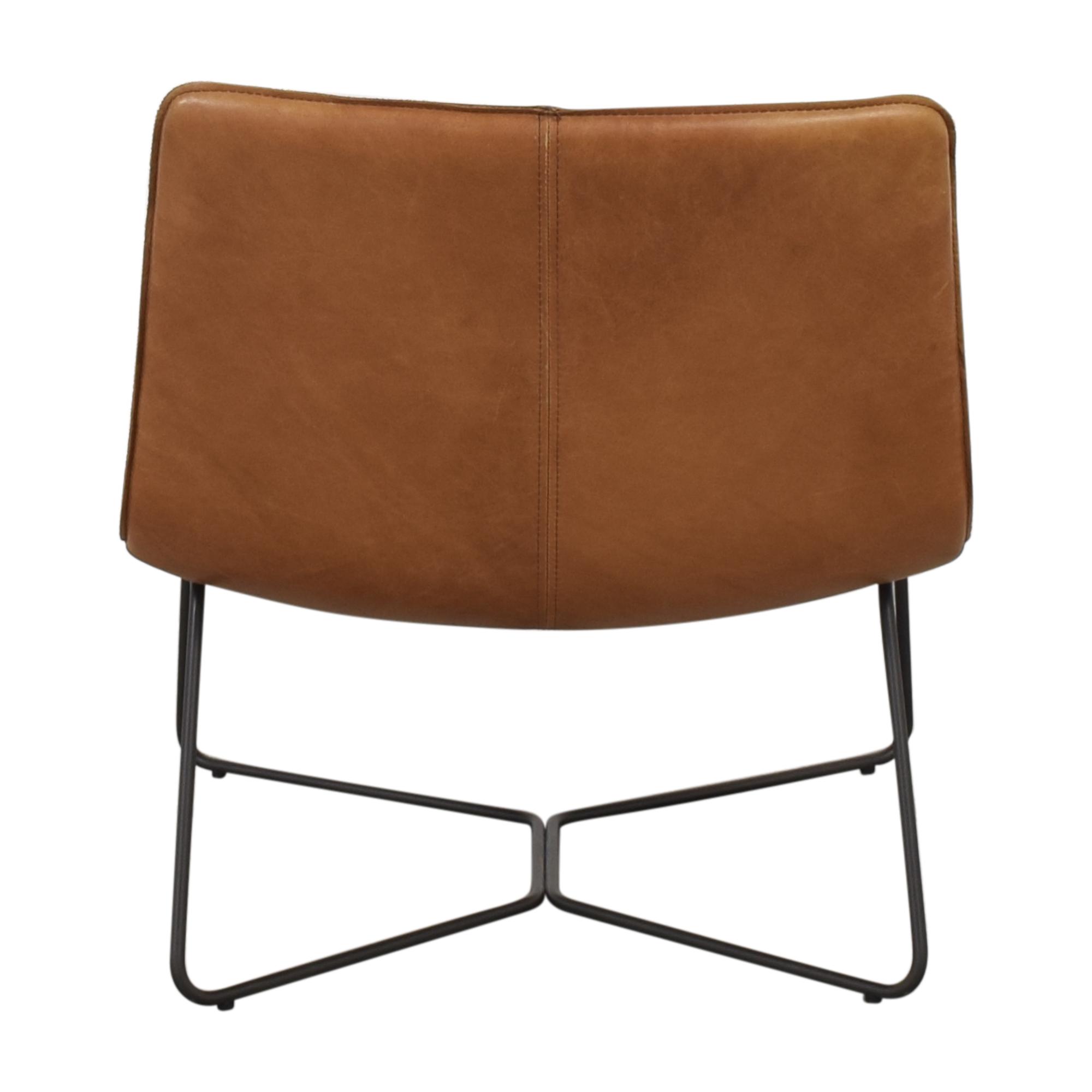 shop West Elm Slope Leather Lounge Chair West Elm