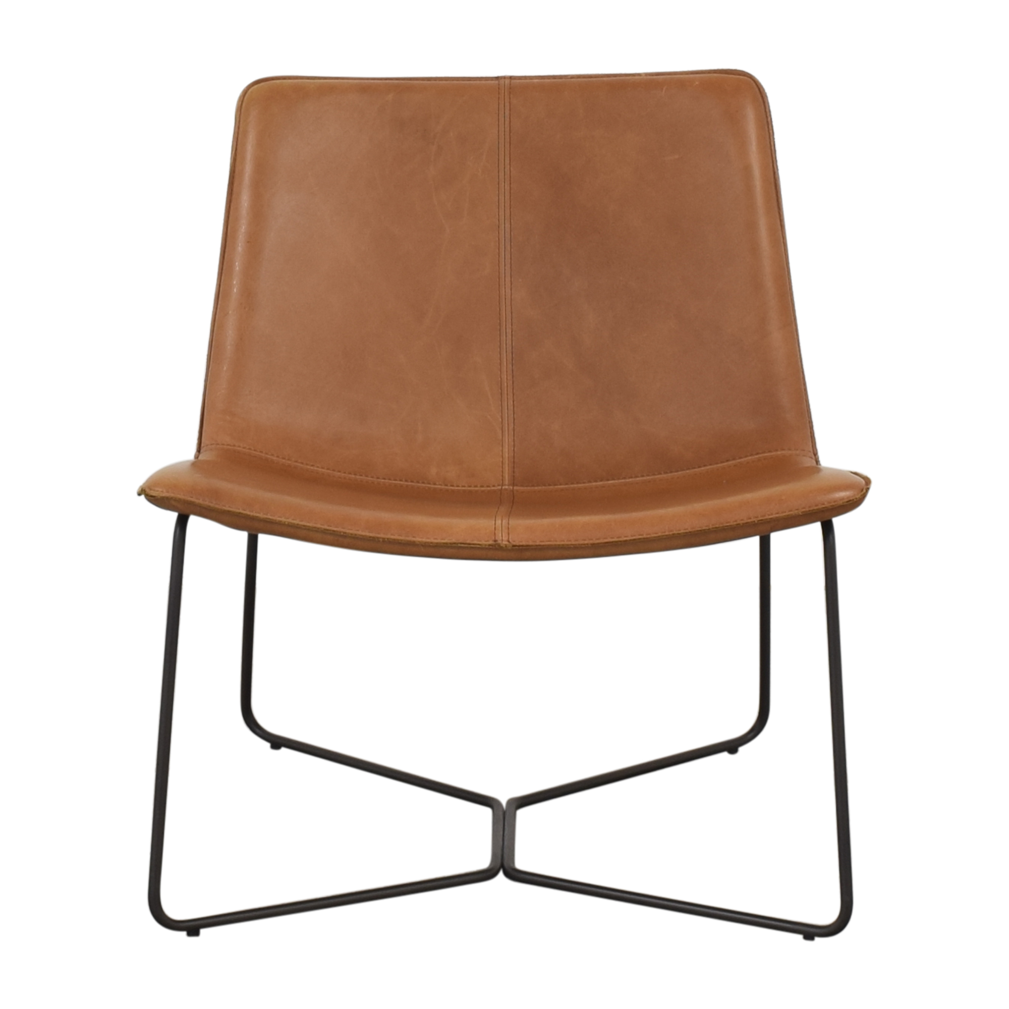 West Elm West Elm Slope Leather Lounge Chair Accent Chairs