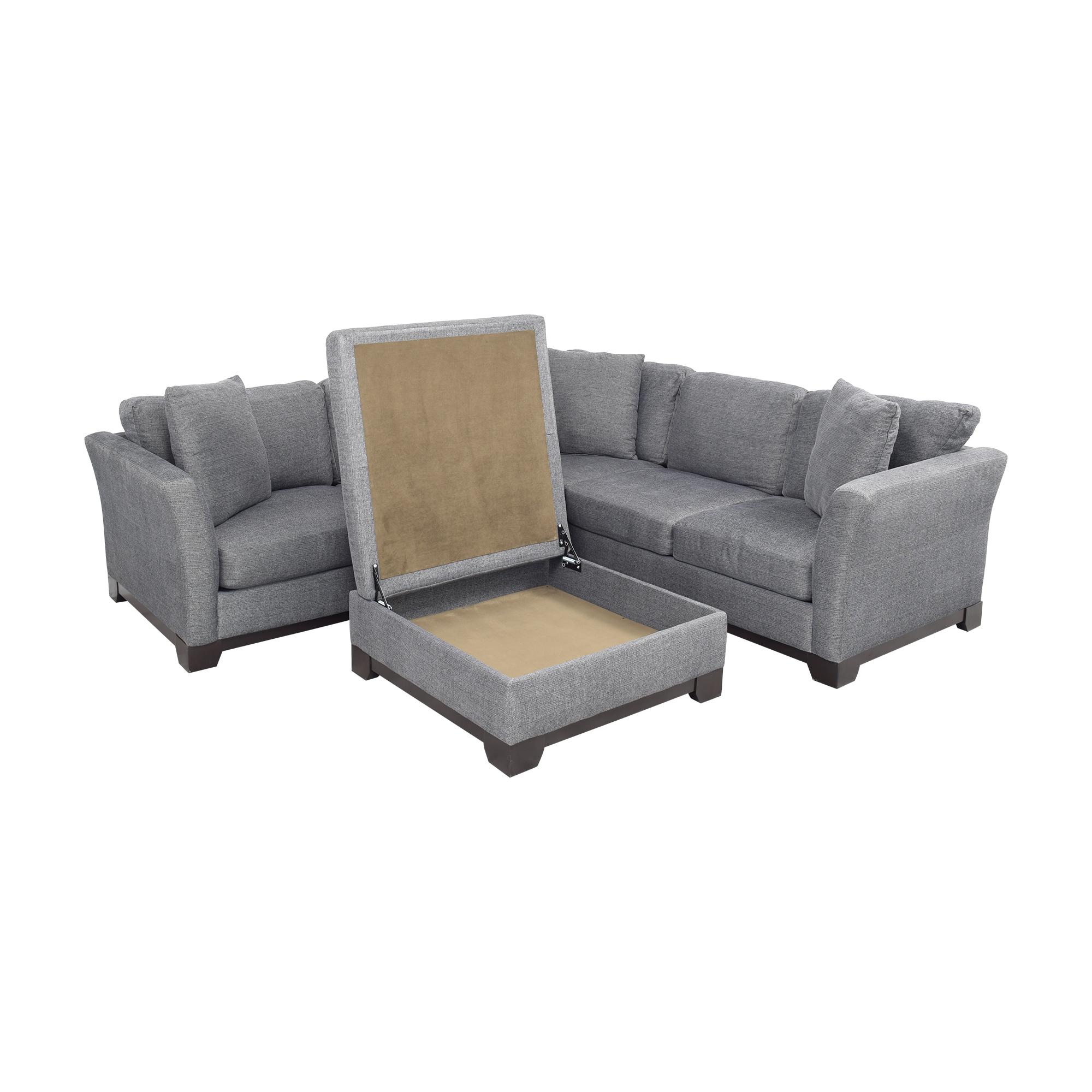 Jonathan Louis Jonathan Louis Elliot II Apartment Sectional Sofa with Storage Ottoman second hand
