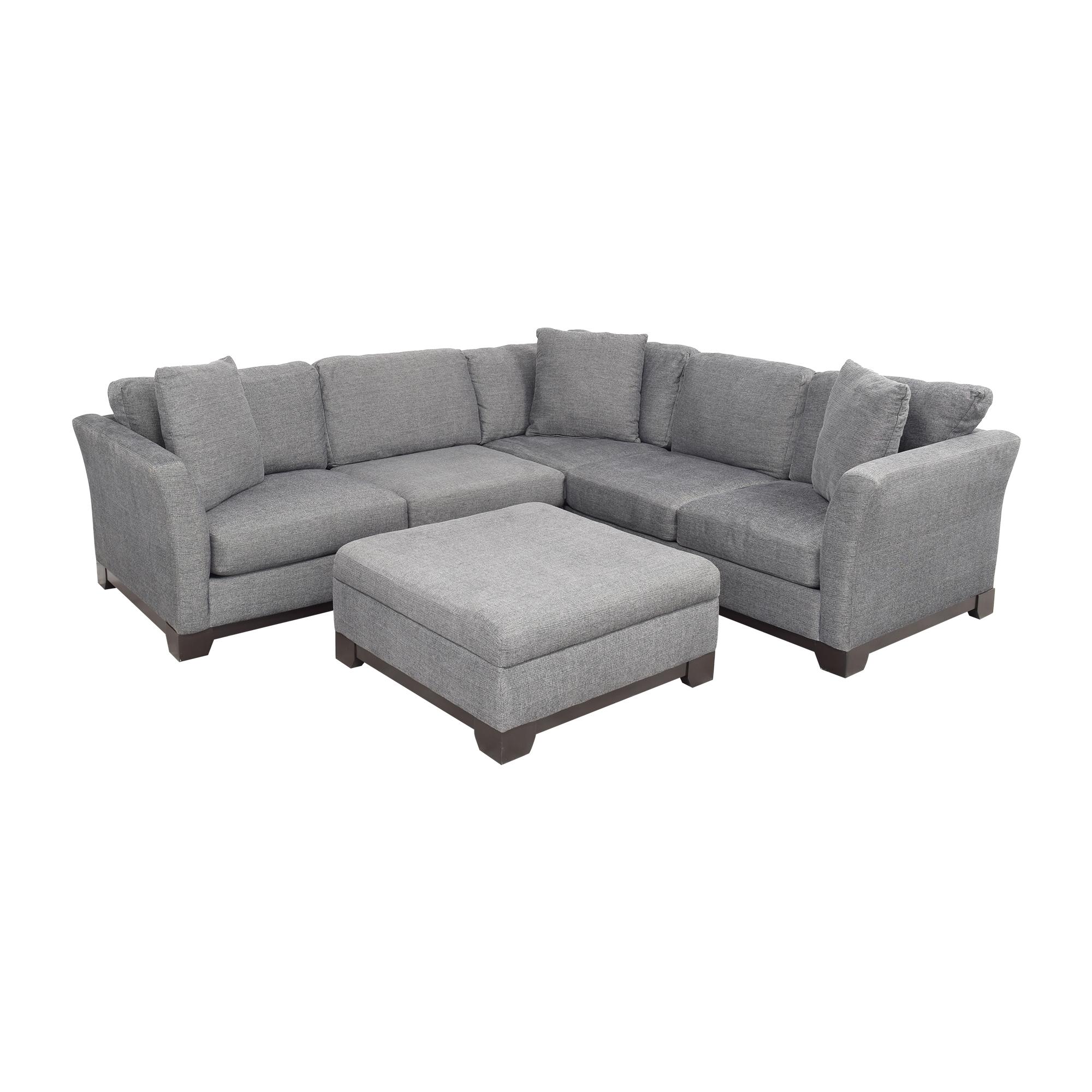 Jonathan Louis Jonathan Louis Elliot II Apartment Sectional Sofa with Storage Ottoman nj