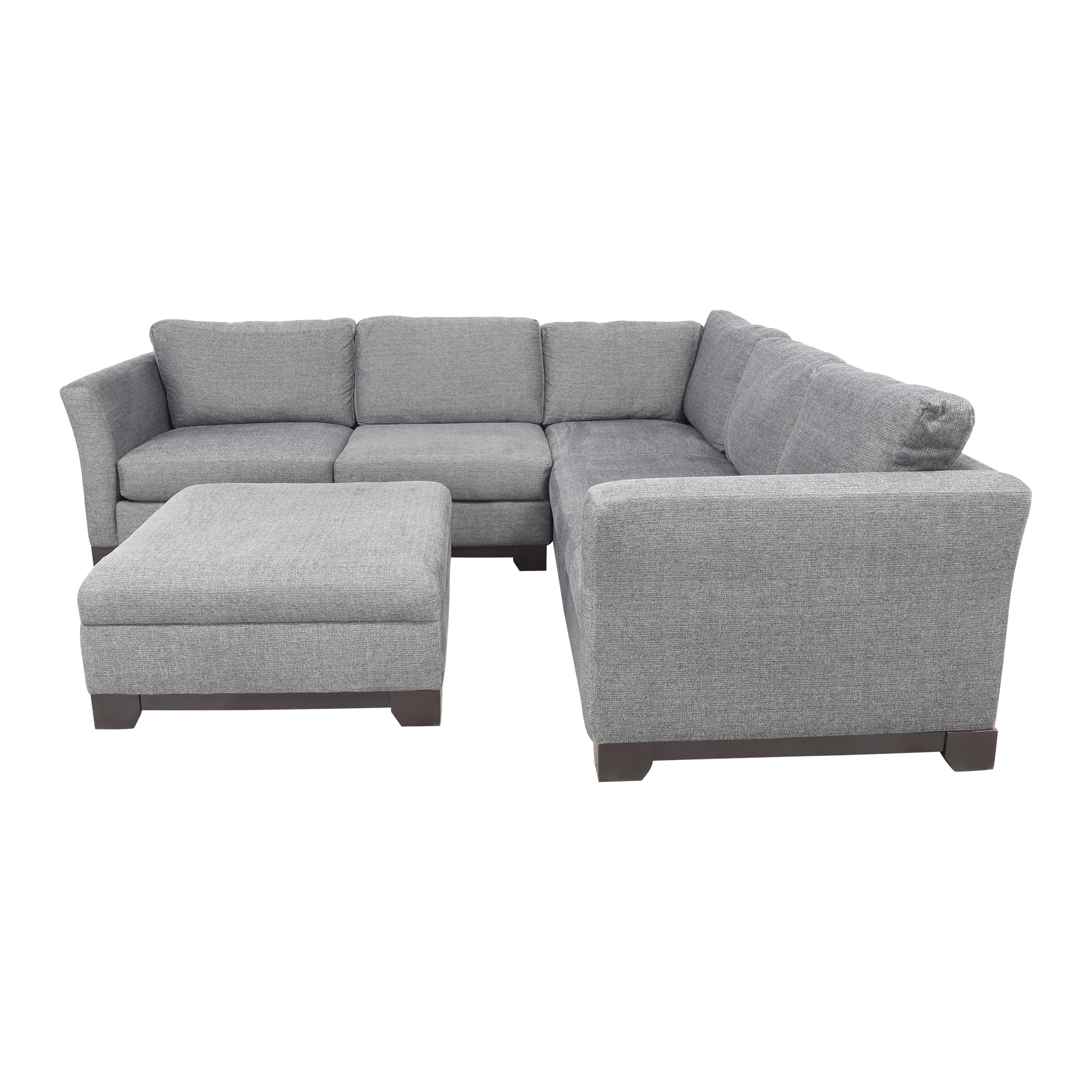 Jonathan Louis Jonathan Louis Elliot II Apartment Sectional Sofa with Storage Ottoman nyc