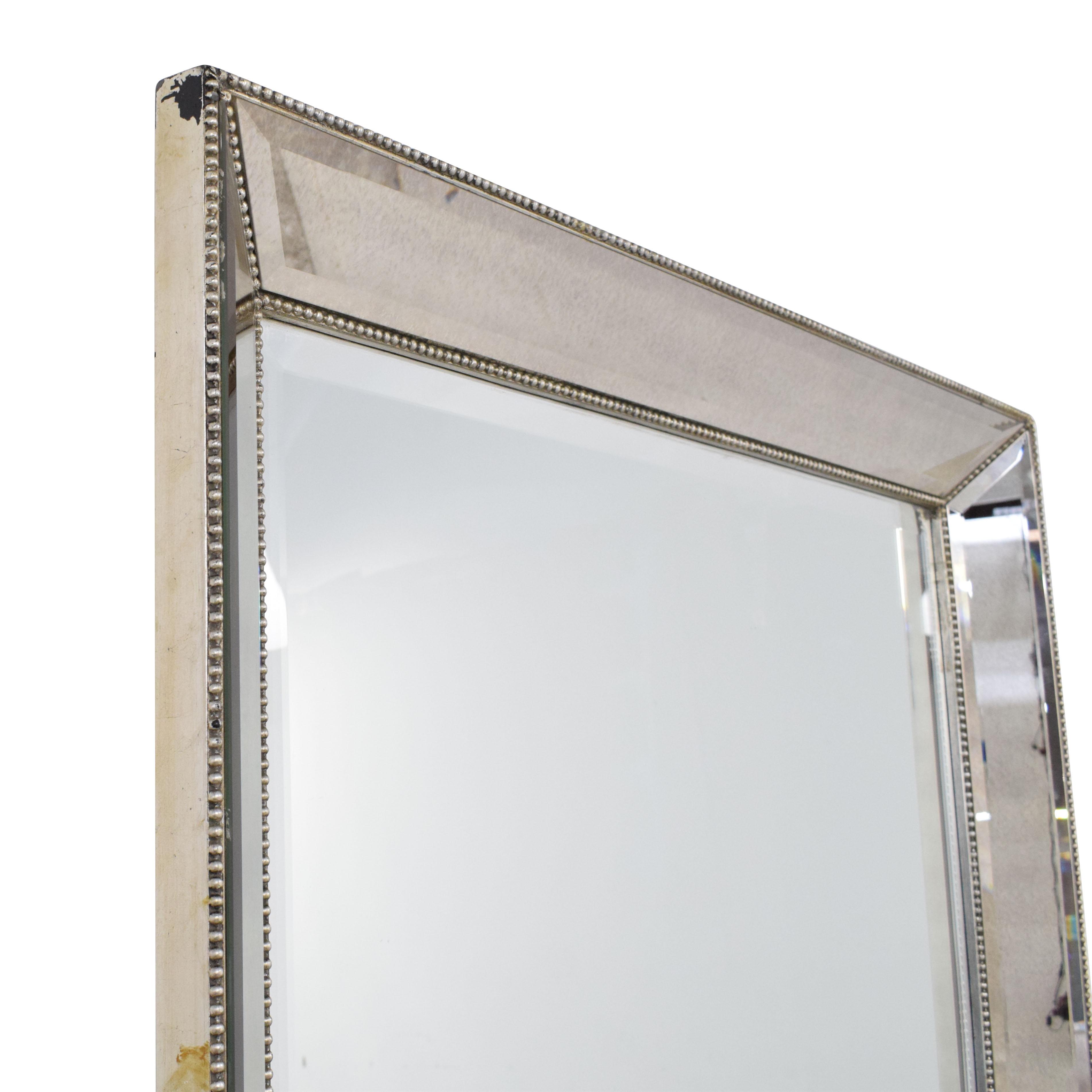 Bassett Mirror Company Beaded Leaner Mirror Bassett Mirror Company