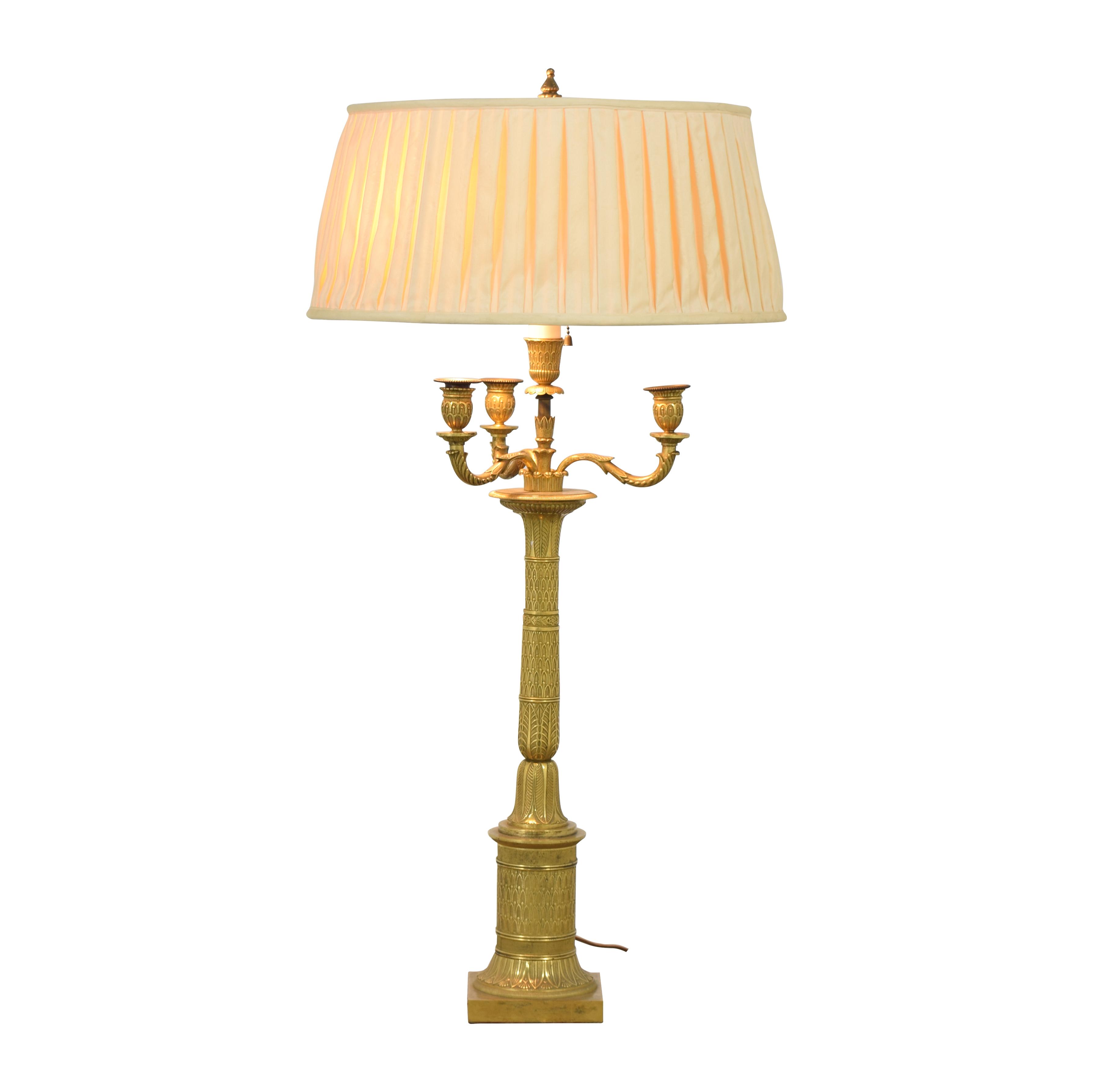Bronze Candelabra Lamp / Decor