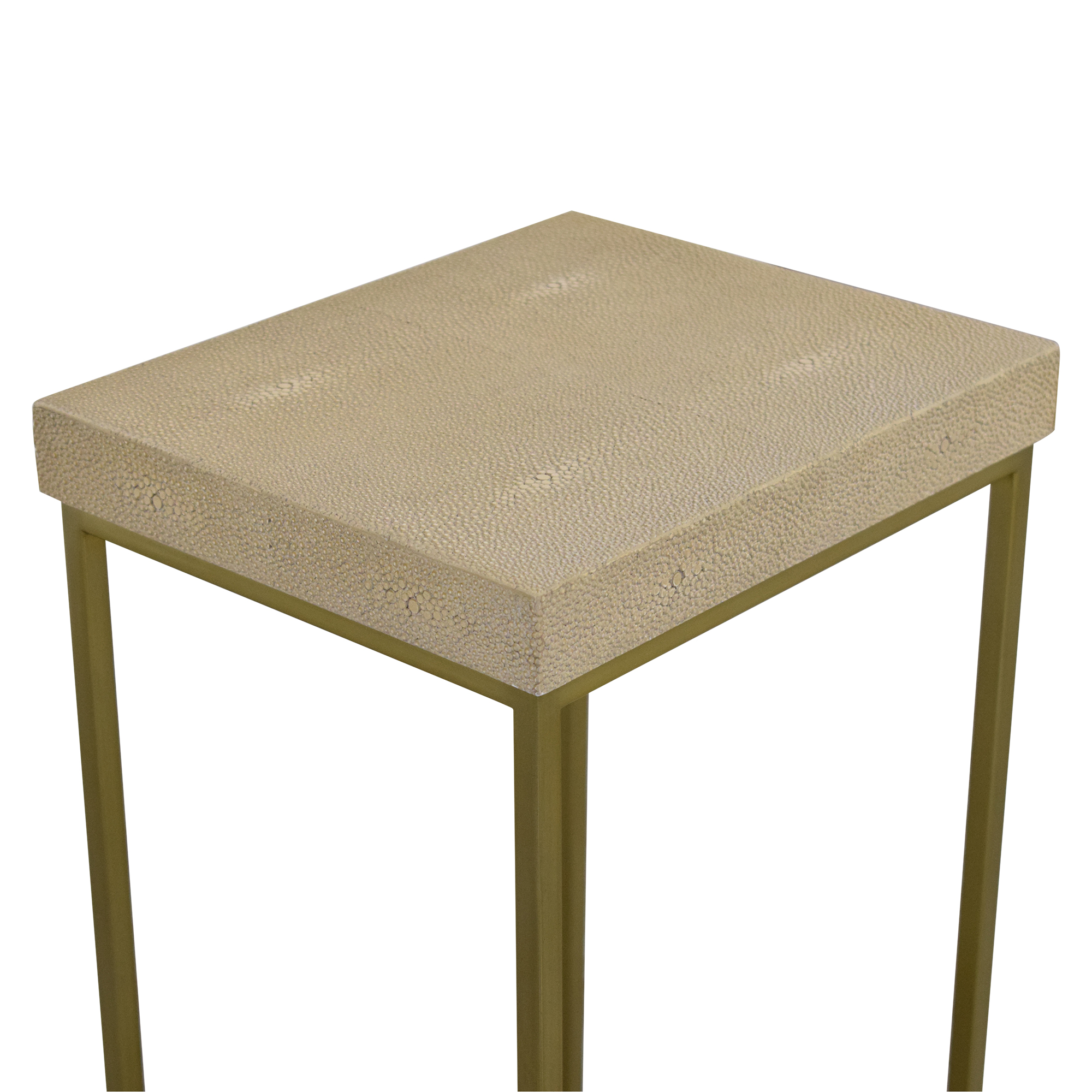 Williams Sonoma Williams Sonoma Faux Shagreen Accent Table End Tables