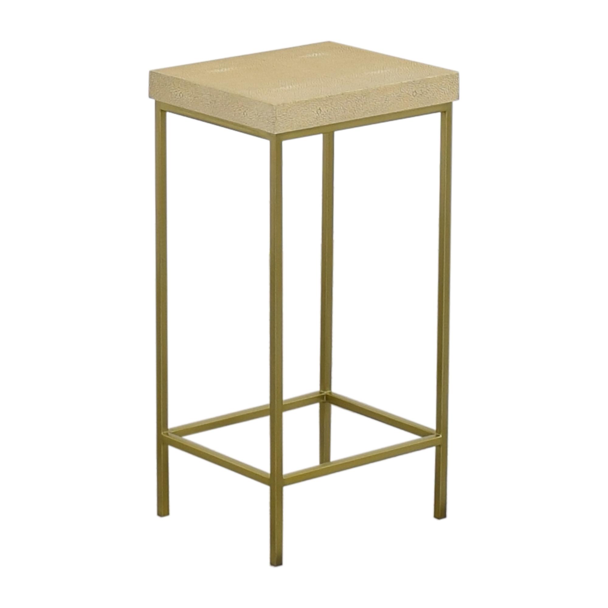 shop Williams Sonoma Faux Shagreen Accent Table Williams Sonoma