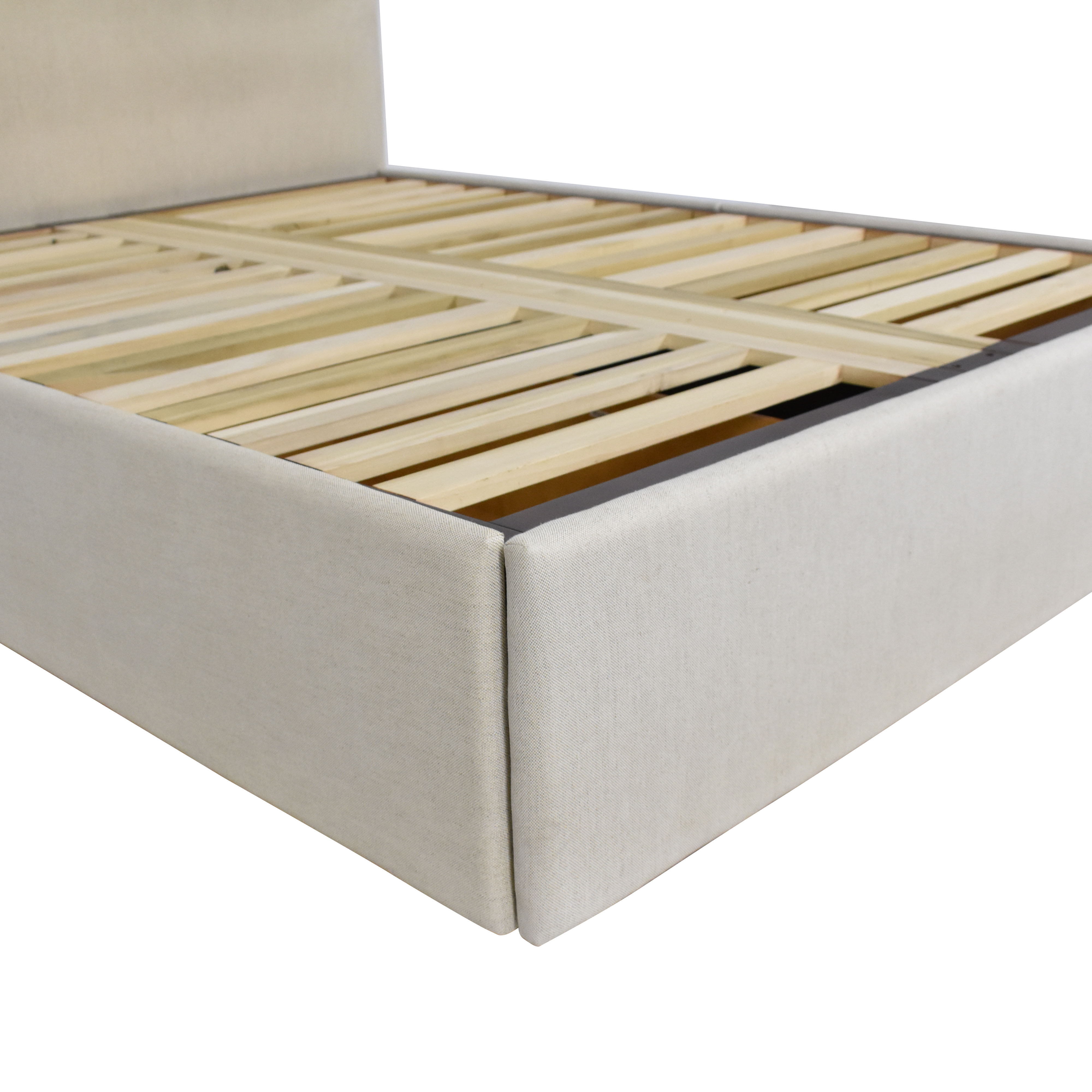 Pottery Barn Pottery Barn Raleigh Upholstered Queen Storage Bed beige