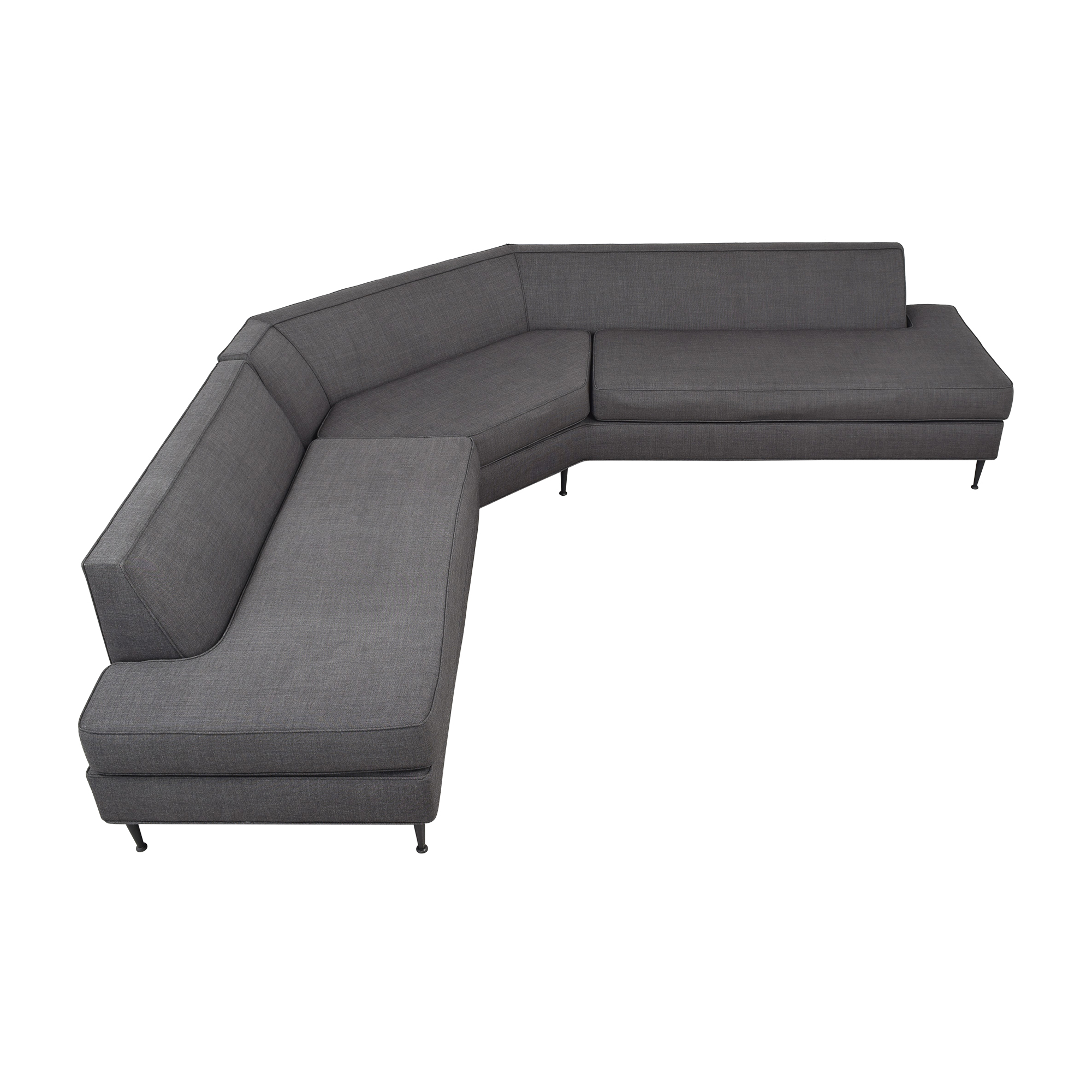 Custom Mid Century Wedge Sectional for sale