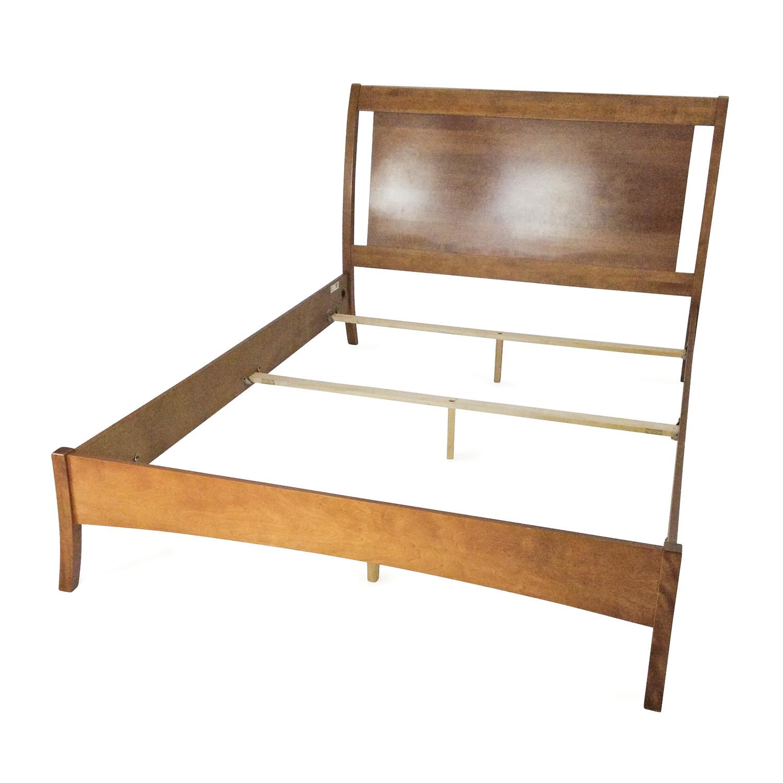 57 Off Macy S Macy S Solid Wood Queen Bedframe Beds