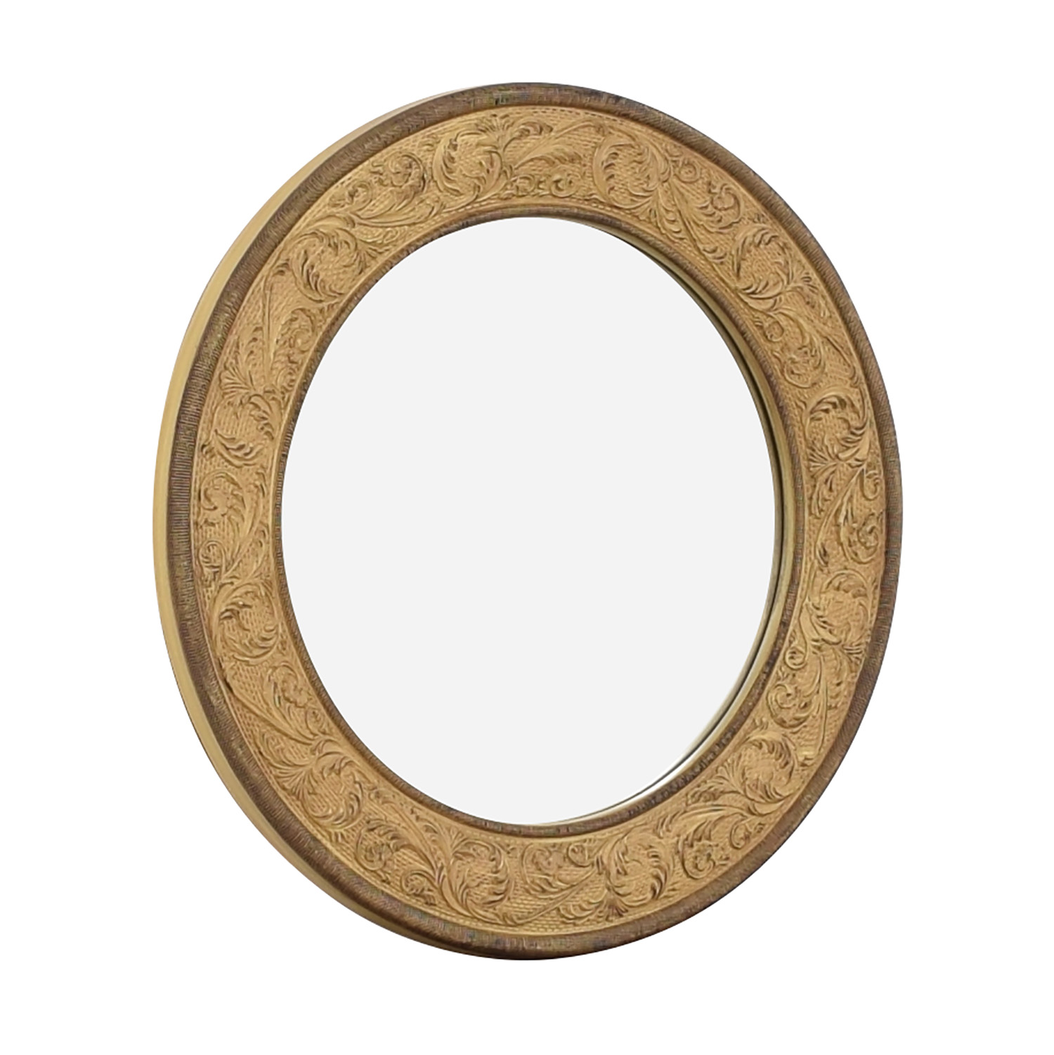 One Kings Lane Round Framed Accent Mirror Decor