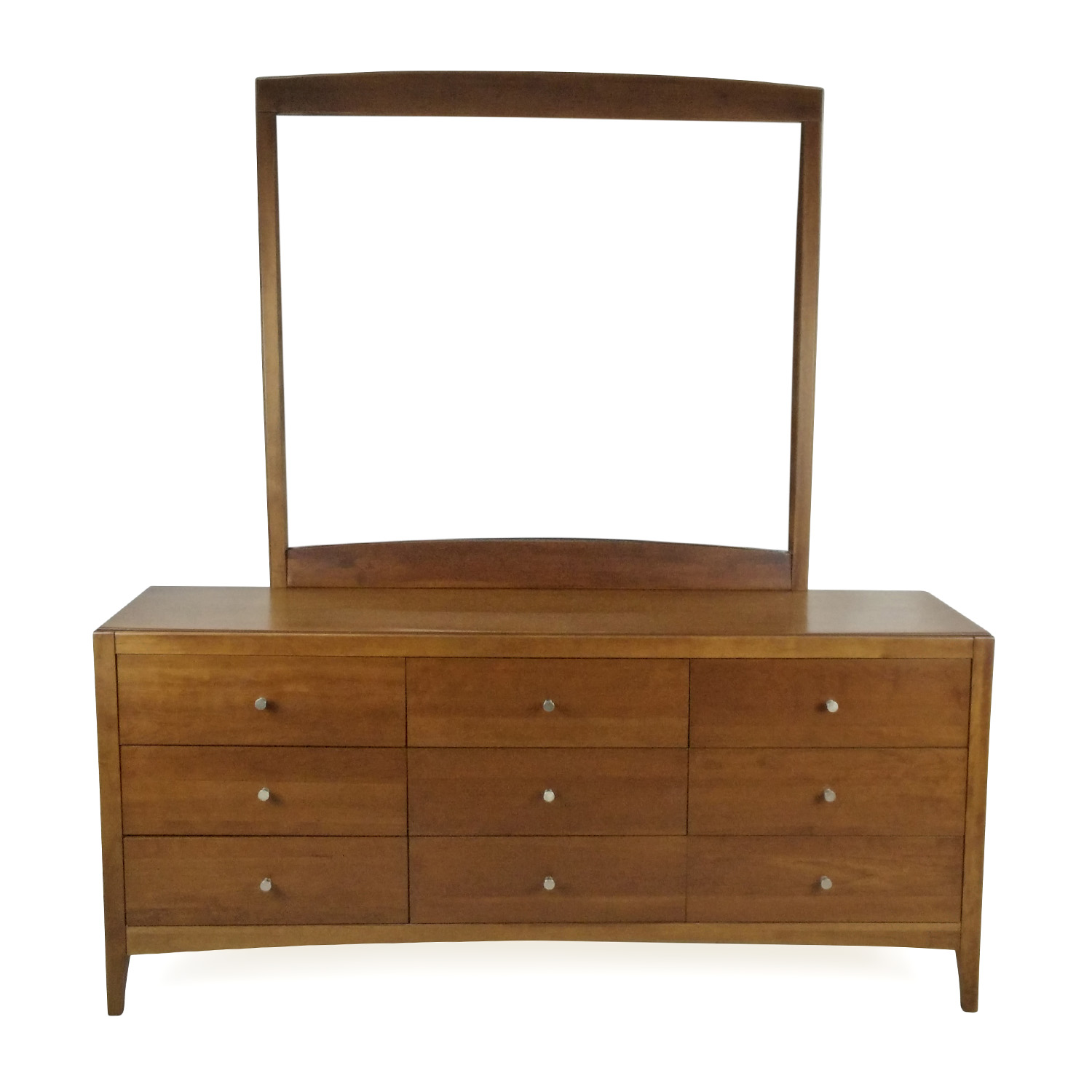 Macy's Macy's Solid Wood 9-Drawer Dresser With Mirror
