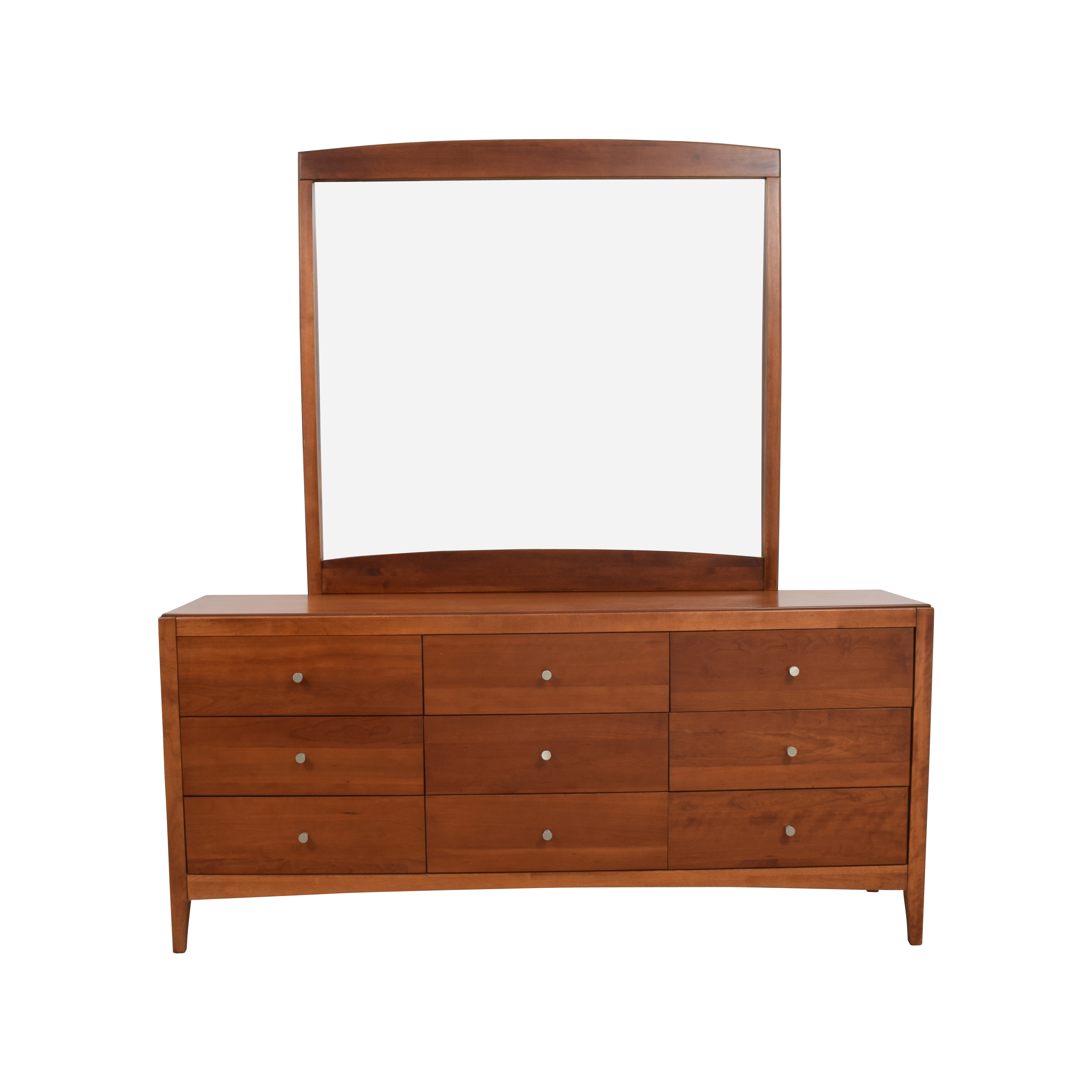 Macys Macys Solid Wood 9-Drawer Dresser With Mirror dimensions