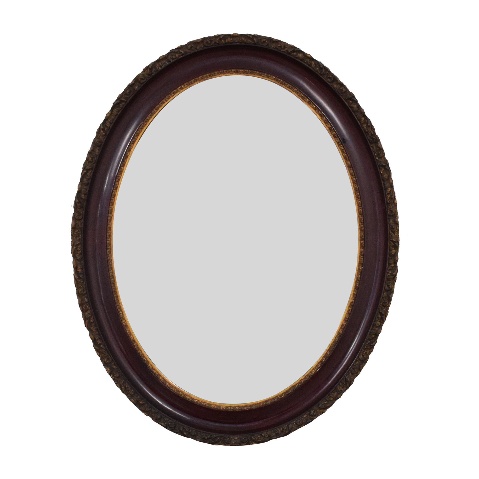 Oval Framed Wall Mirror pa