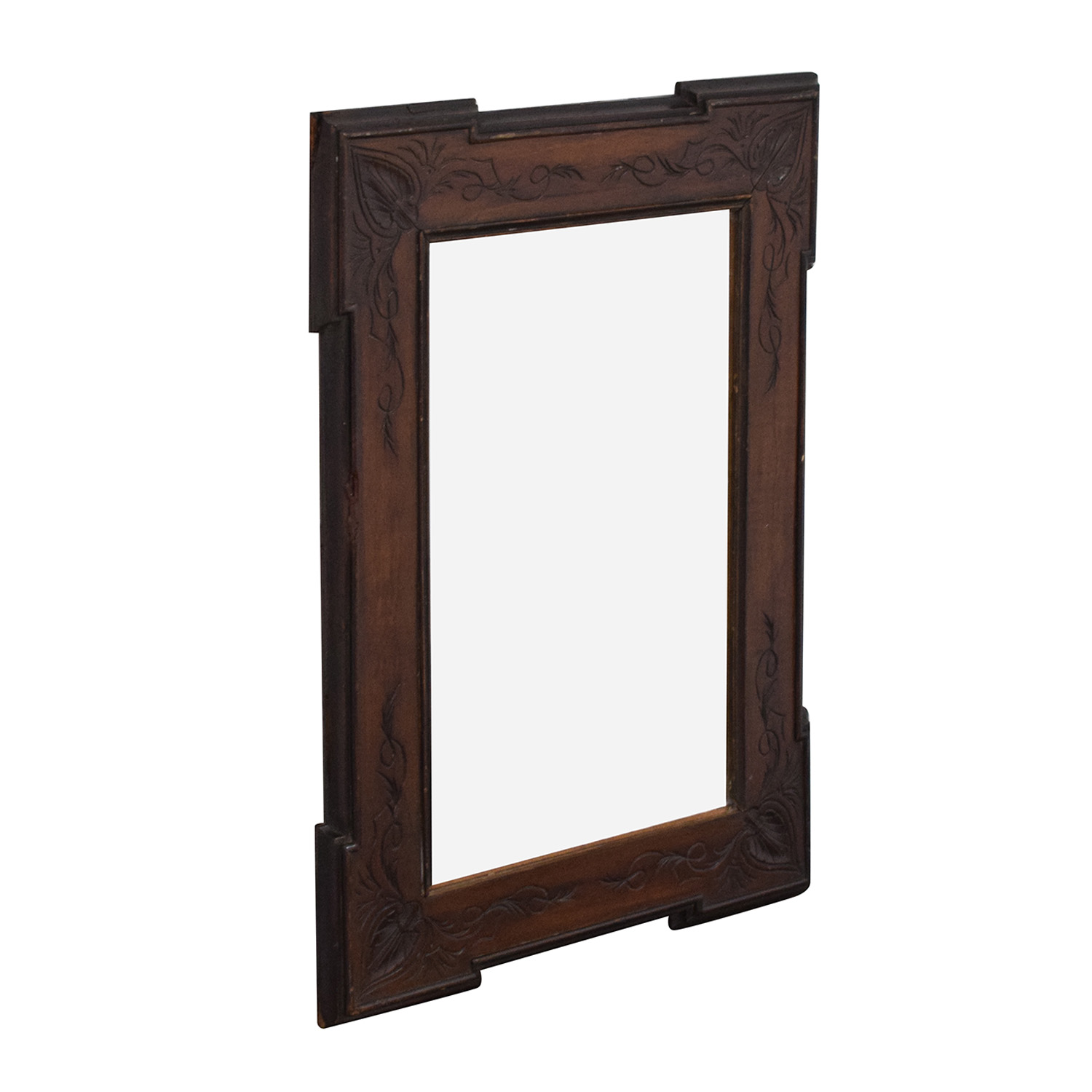 Carved Frame Vintage Wall Mirror pa