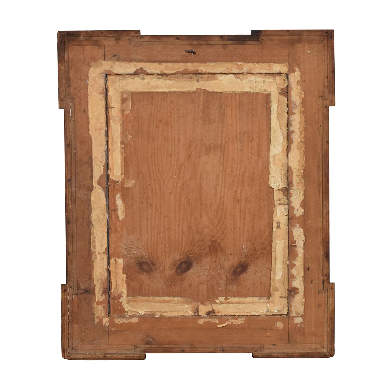 Carved Frame Vintage Wall Mirror Decor