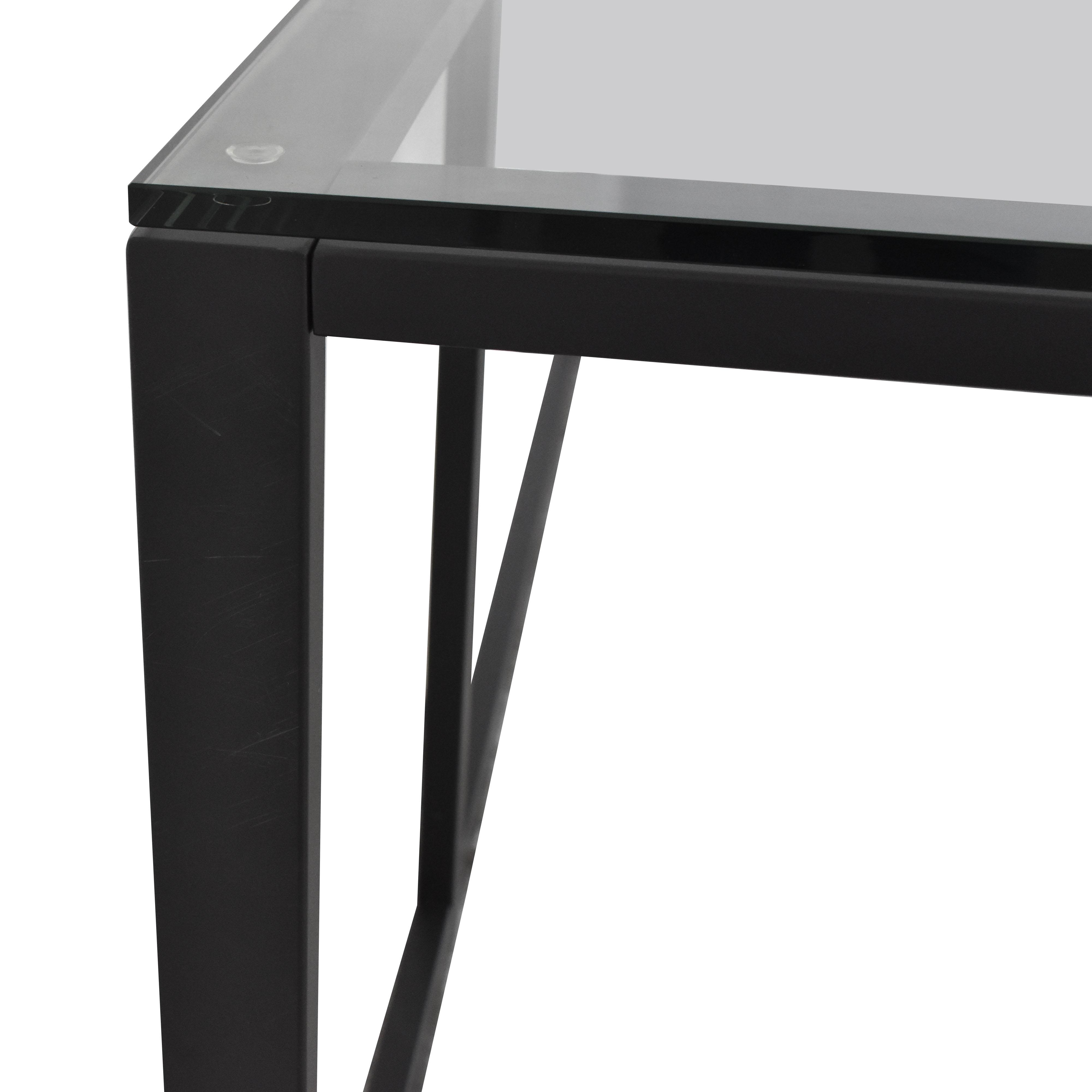 shop Crate & Barrel Pilsen Graphite Corner Desk Crate & Barrel Home Office Desks