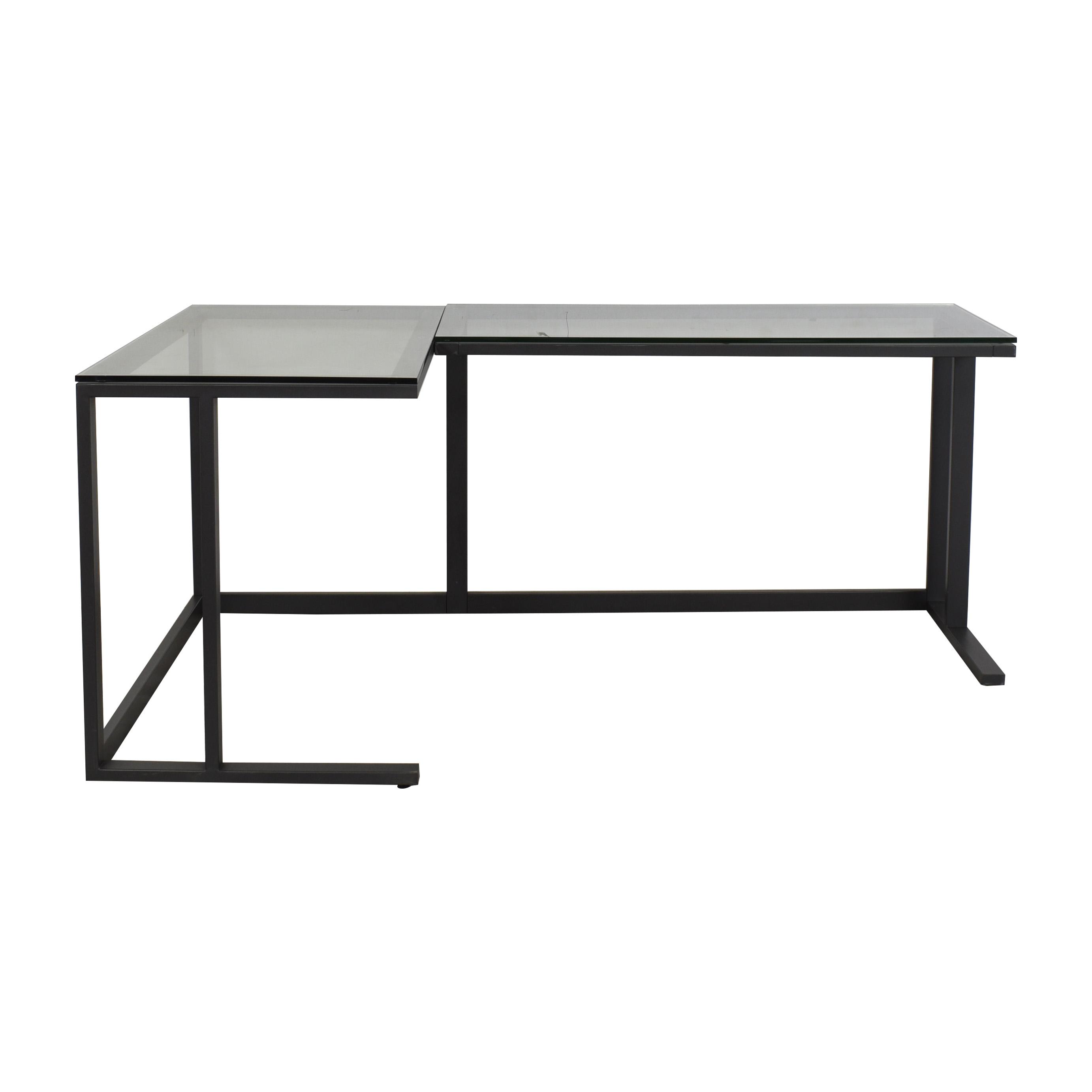 Crate & Barrel Crate & Barrel Pilsen Graphite Corner Desk Tables