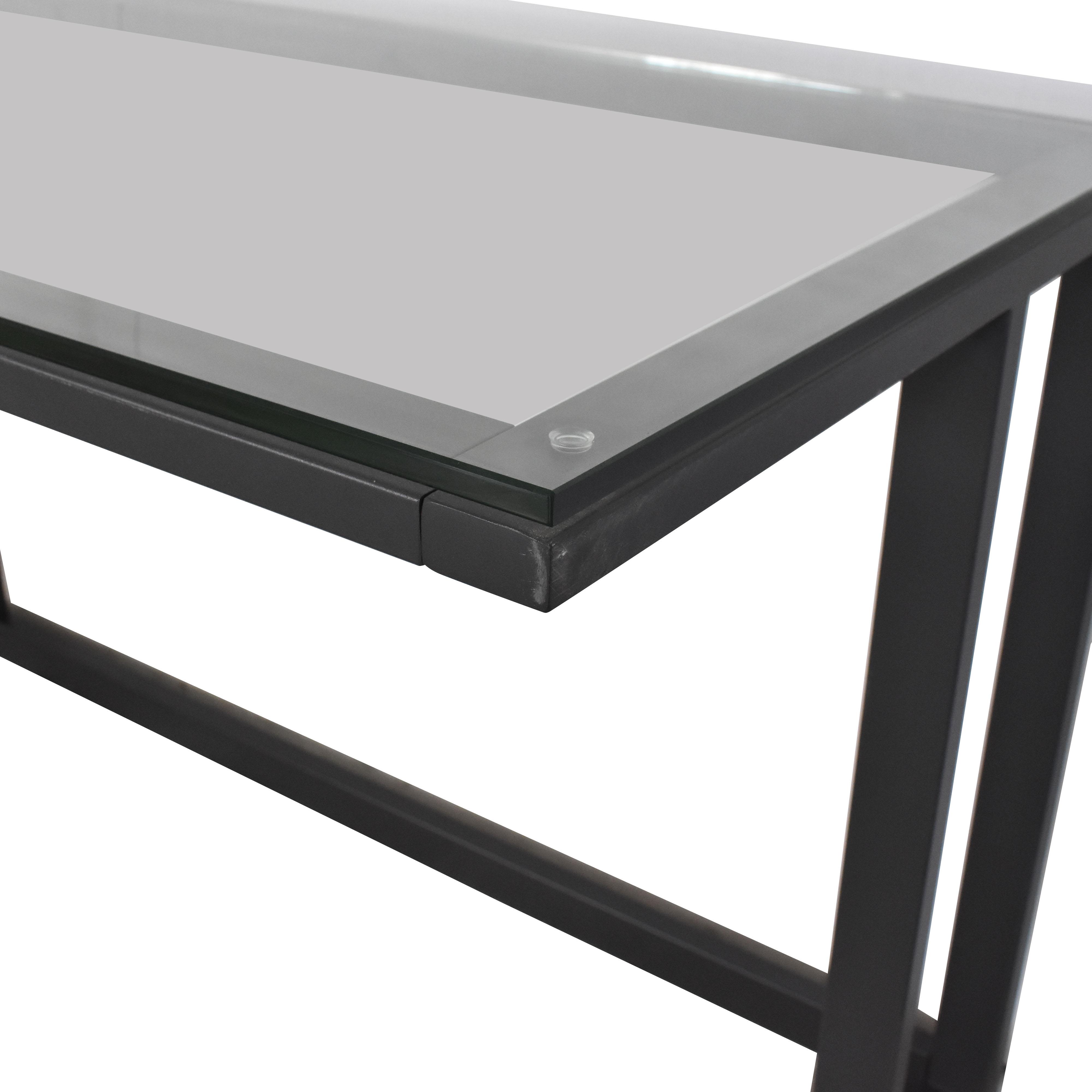 Crate & Barrel Pilsen Graphite Corner Desk / Home Office Desks