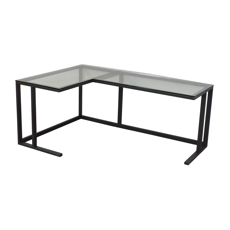 Crate & Barrel Crate & Barrel Pilsen Graphite Corner Desk on sale