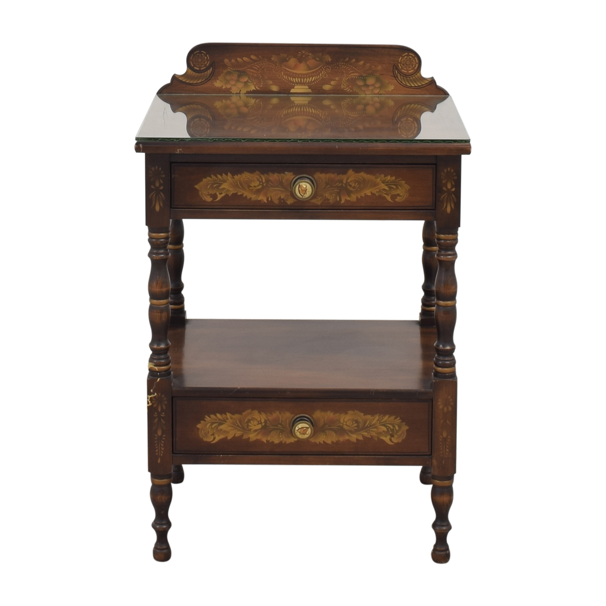 Lambert Hitchcock Two Drawer Nightstand / End Tables
