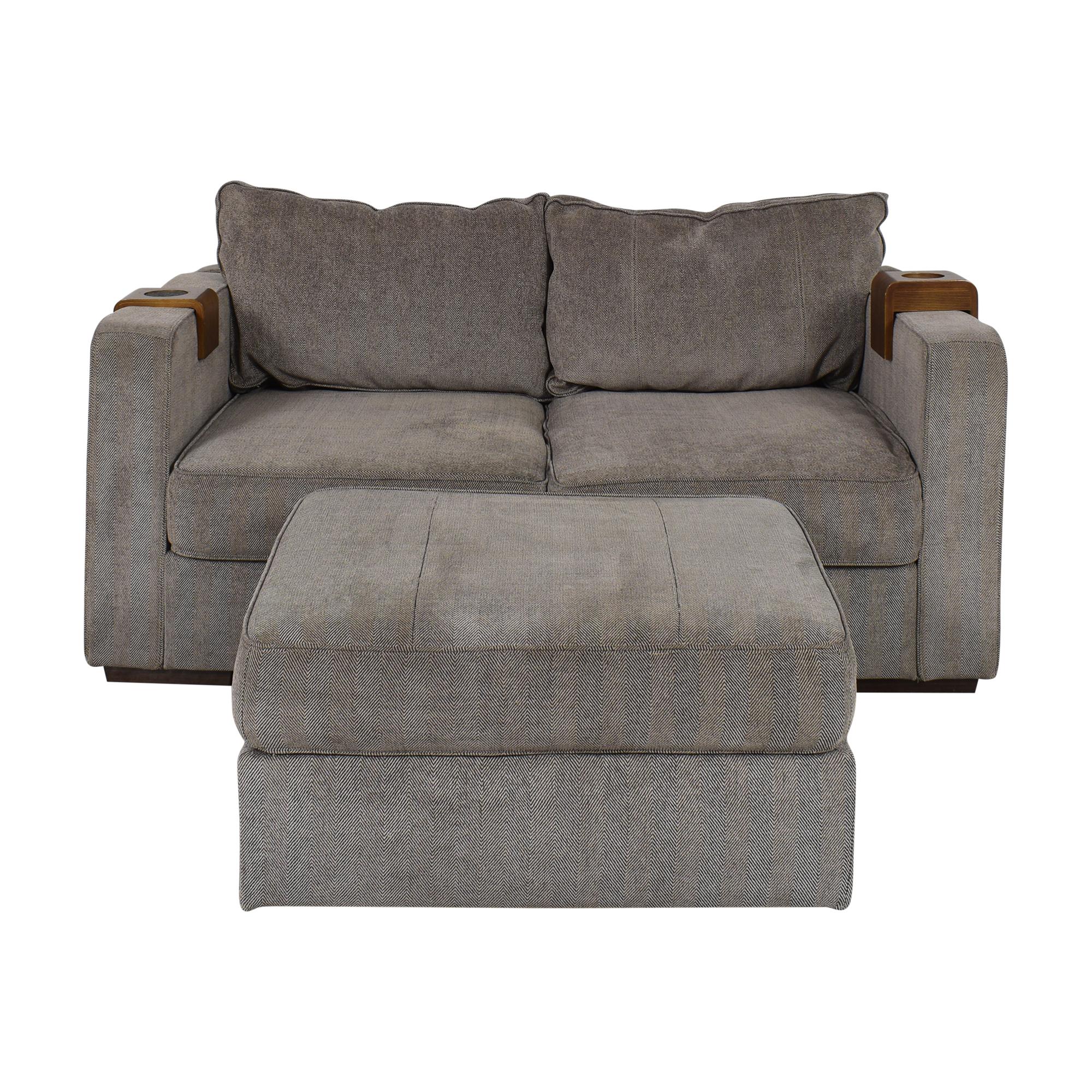Lovesac Lovesac Sactional Sofa with Ottoman and Cupholder ma