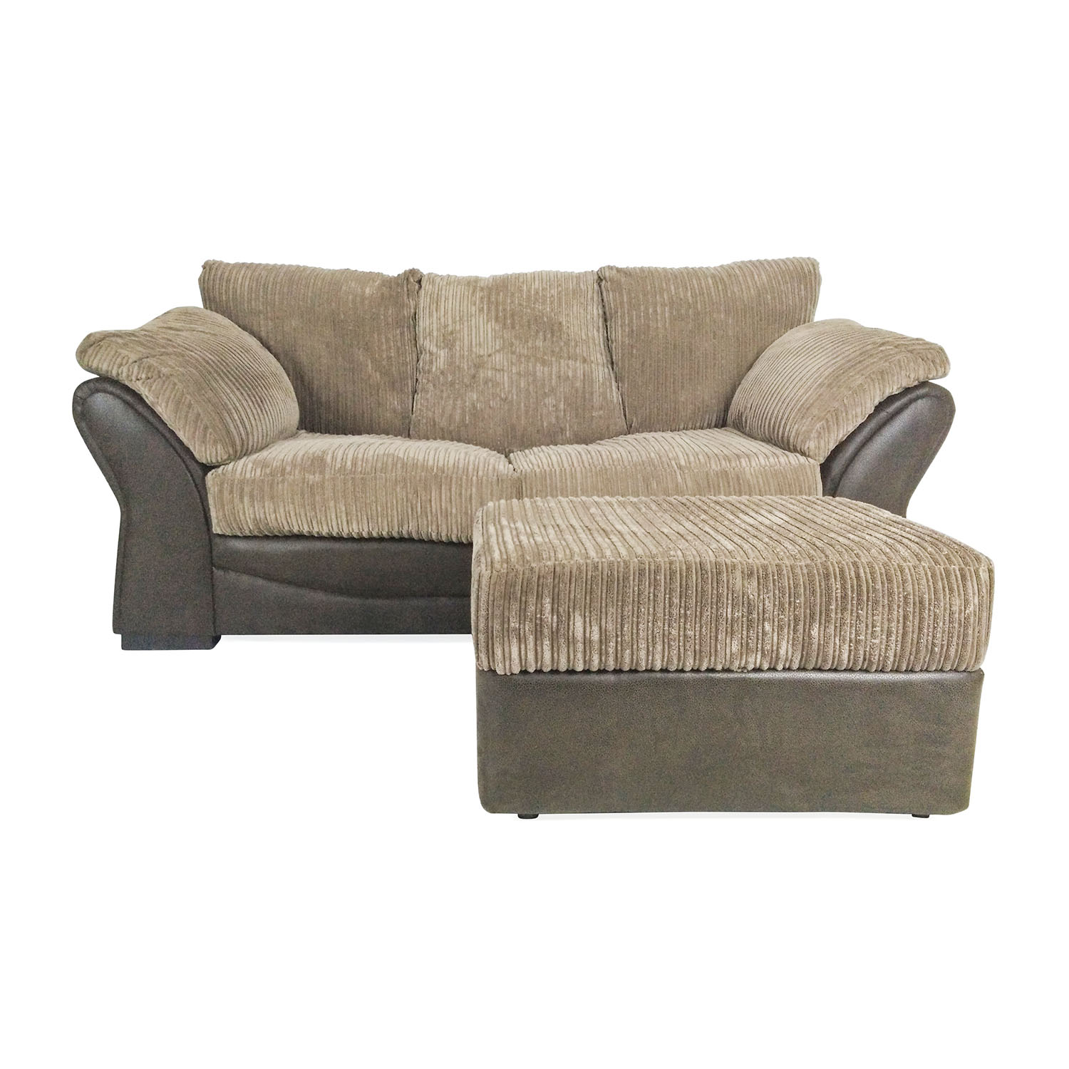 shop Brown Sofa Bed and Ottoman Unknown Brand Sofas