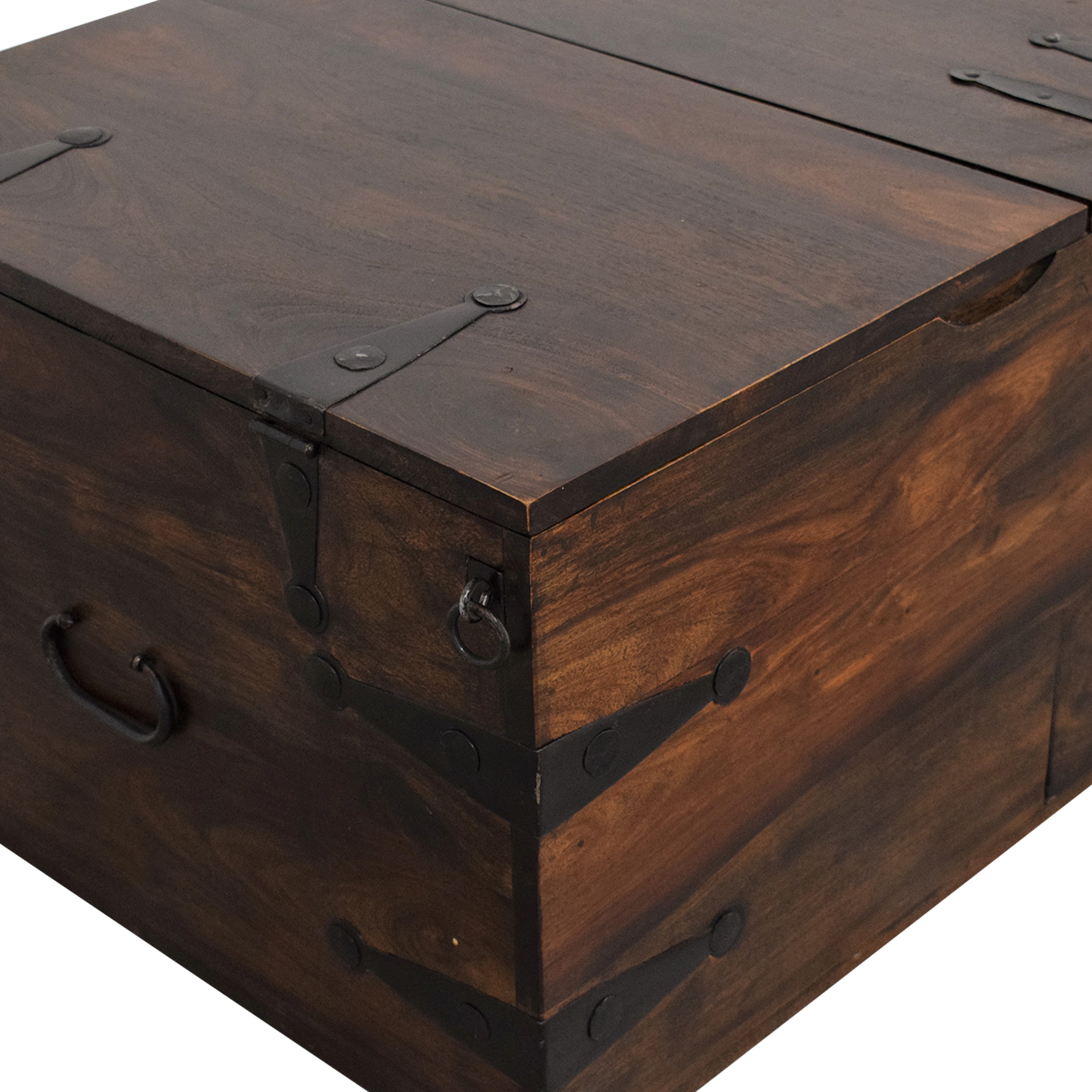 Crate & Barrel Crate & Barrel Taka Trunk and Coffee Table used