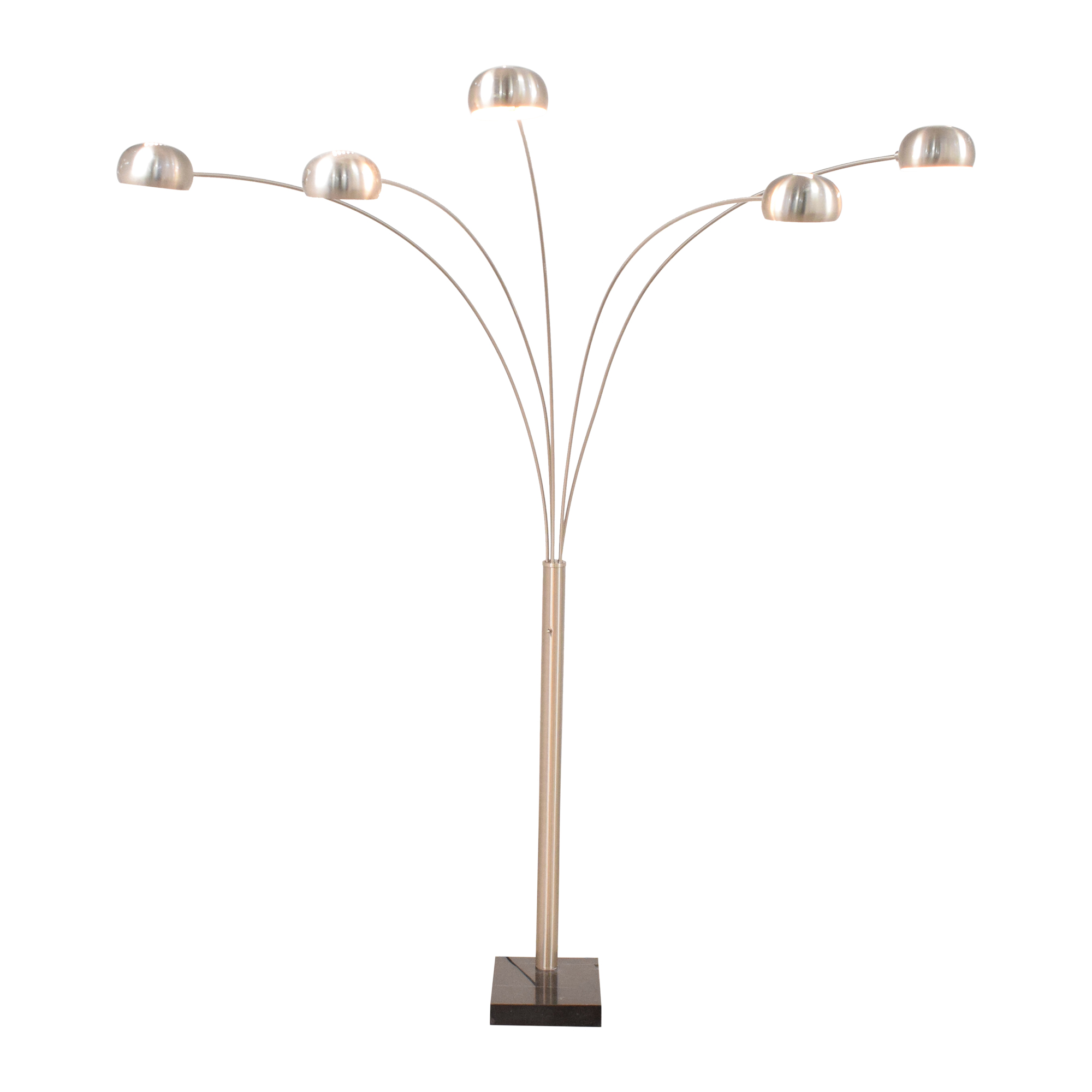 Chrome Domed Standing Lamp with Five Lamps sale