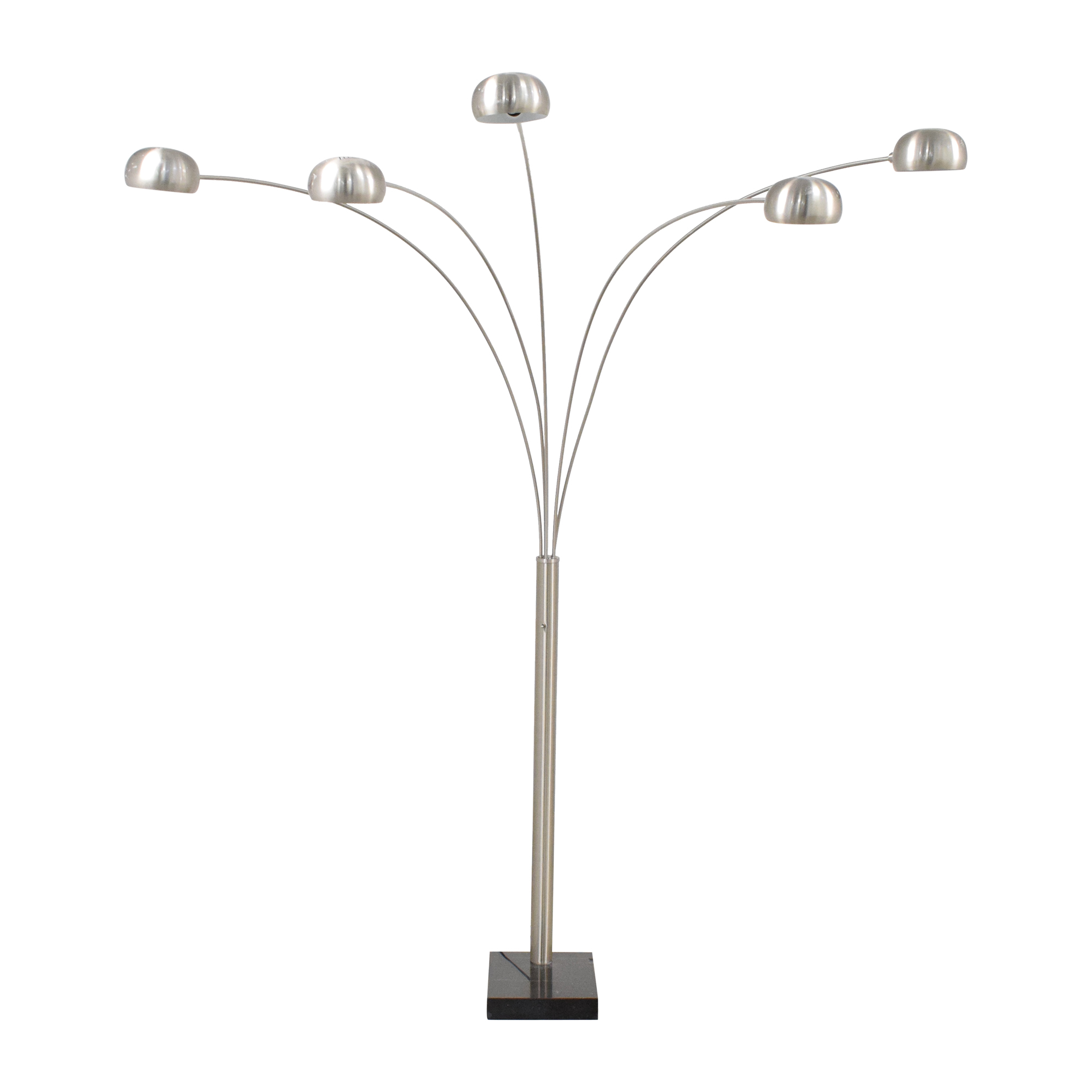 shop Chrome Domed Standing Lamp with Five Lamps