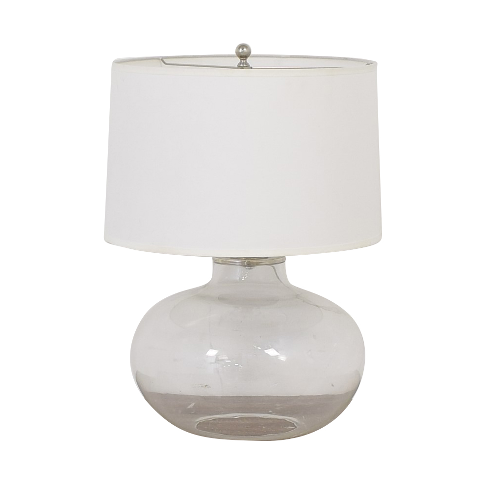 Ethan Allen Ethan Allen Glass Onion Jar Table Lamp dimensions
