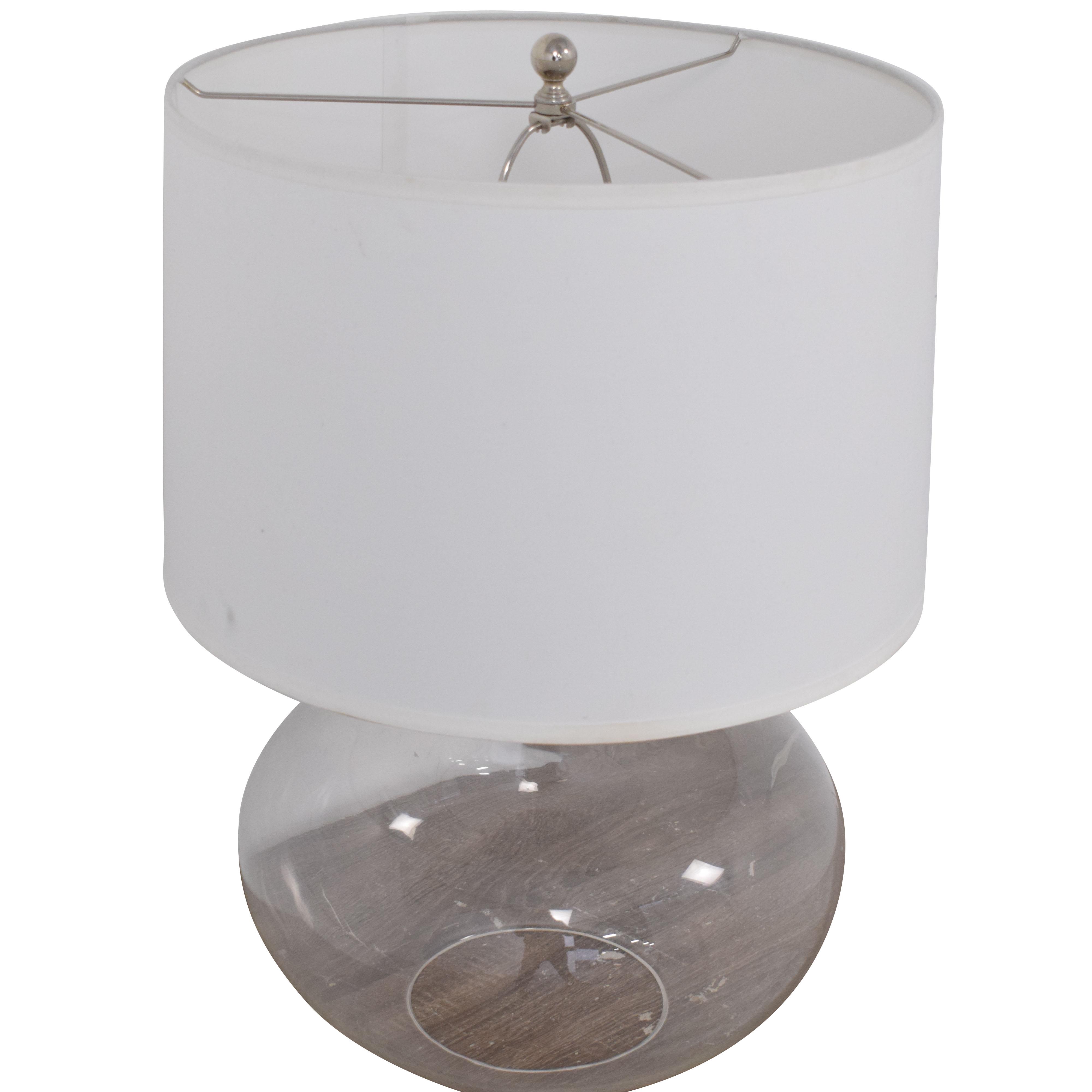 Ethan Allen Ethan Allen Glass Onion Jar Table Lamp Decor