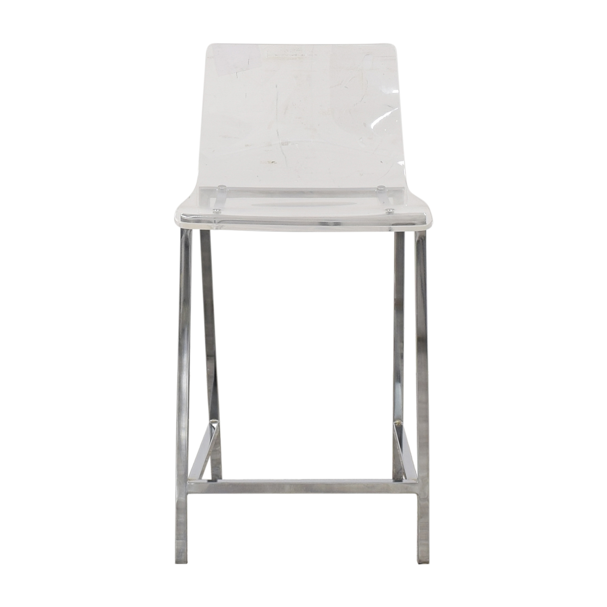 CB2 CB2 Chiaro Clear Counter Stool used
