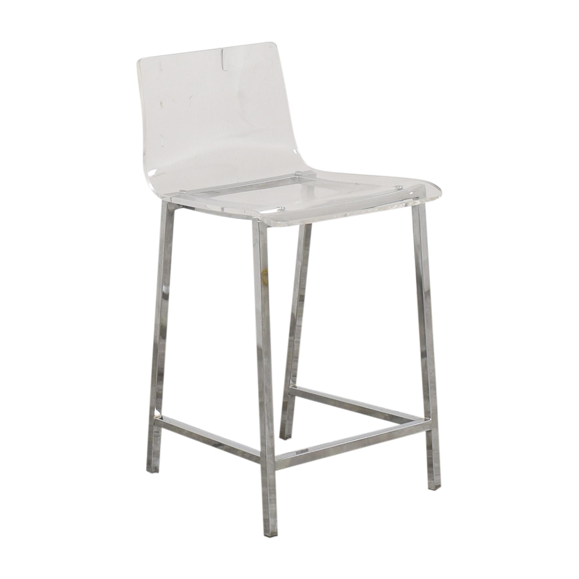 CB2 CB2 Chiaro Clear Counter Stool Chairs