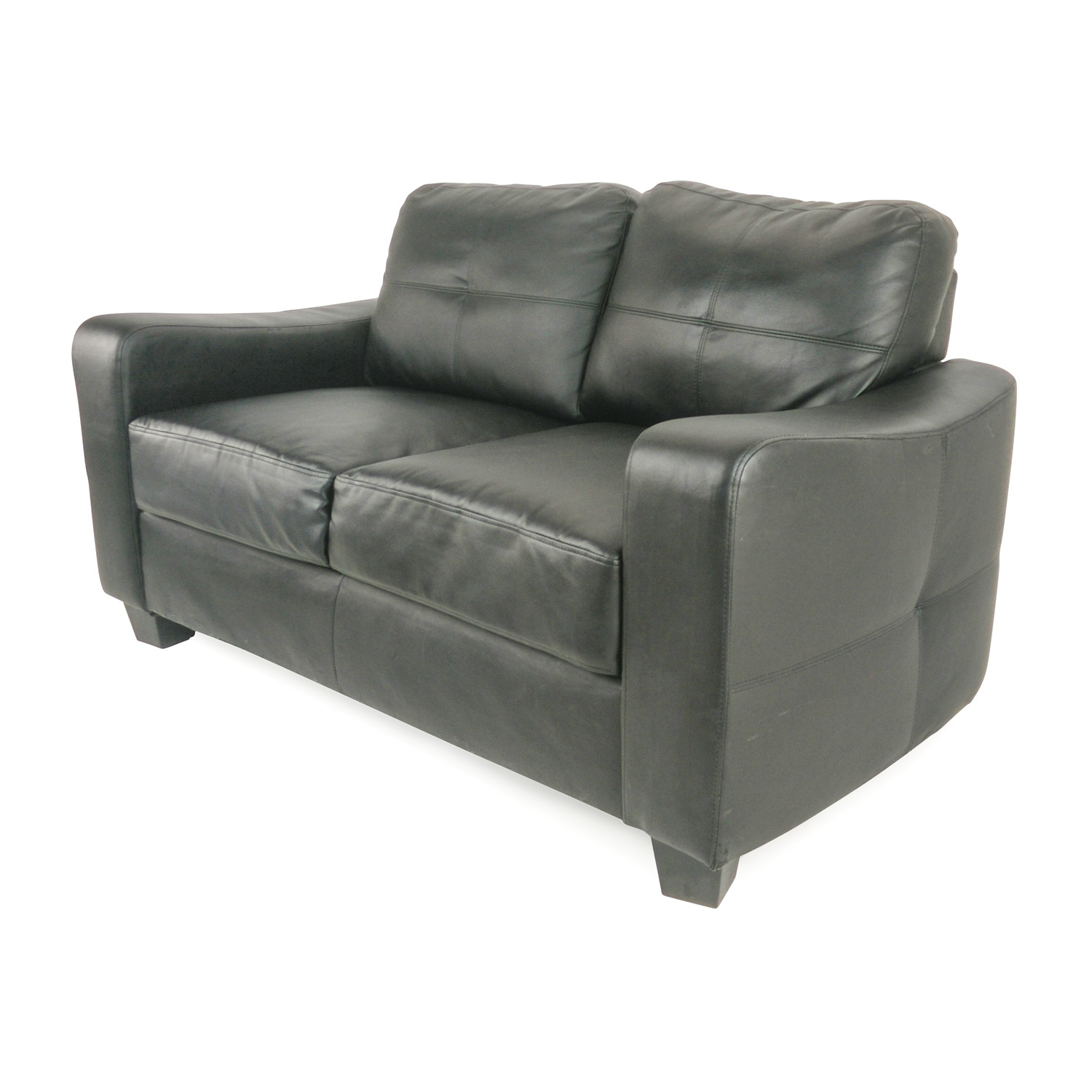 50 off black bonded leather loveseat sofas Loveseat black