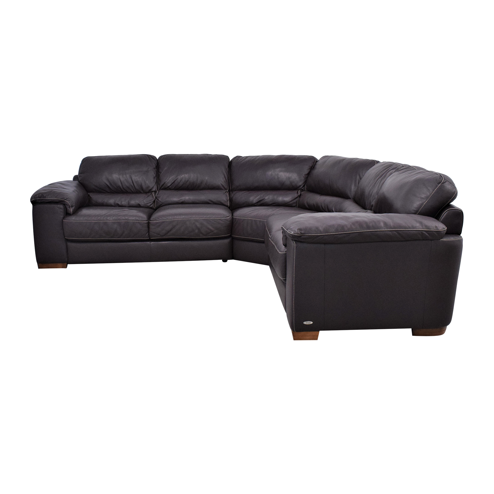 Cindy Crawford Home Cindy Crawford Home Maglie Leather Sectional Sofa coupon