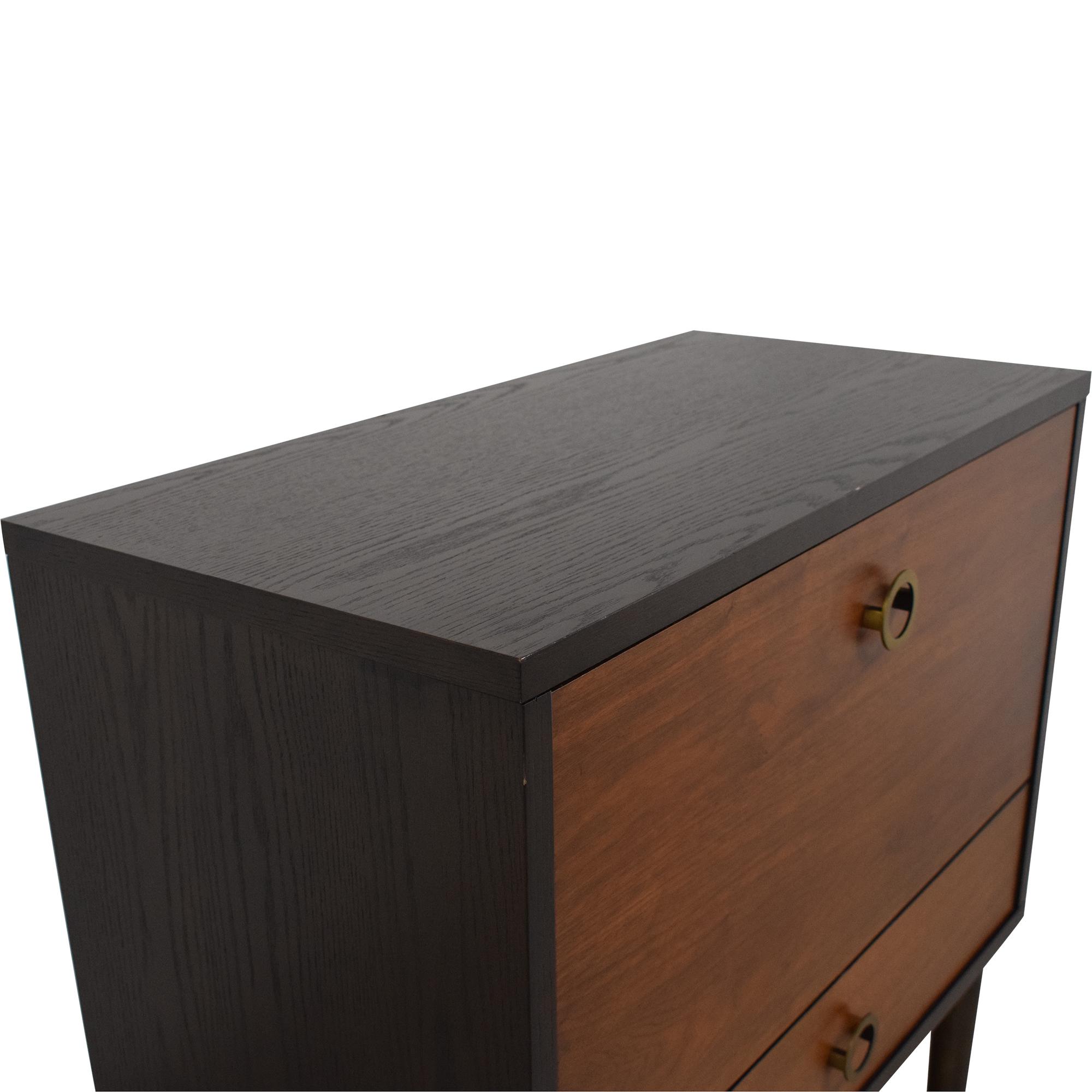 shop West Elm Dobson Flip Down Bar Cabinet West Elm Cabinets & Sideboards