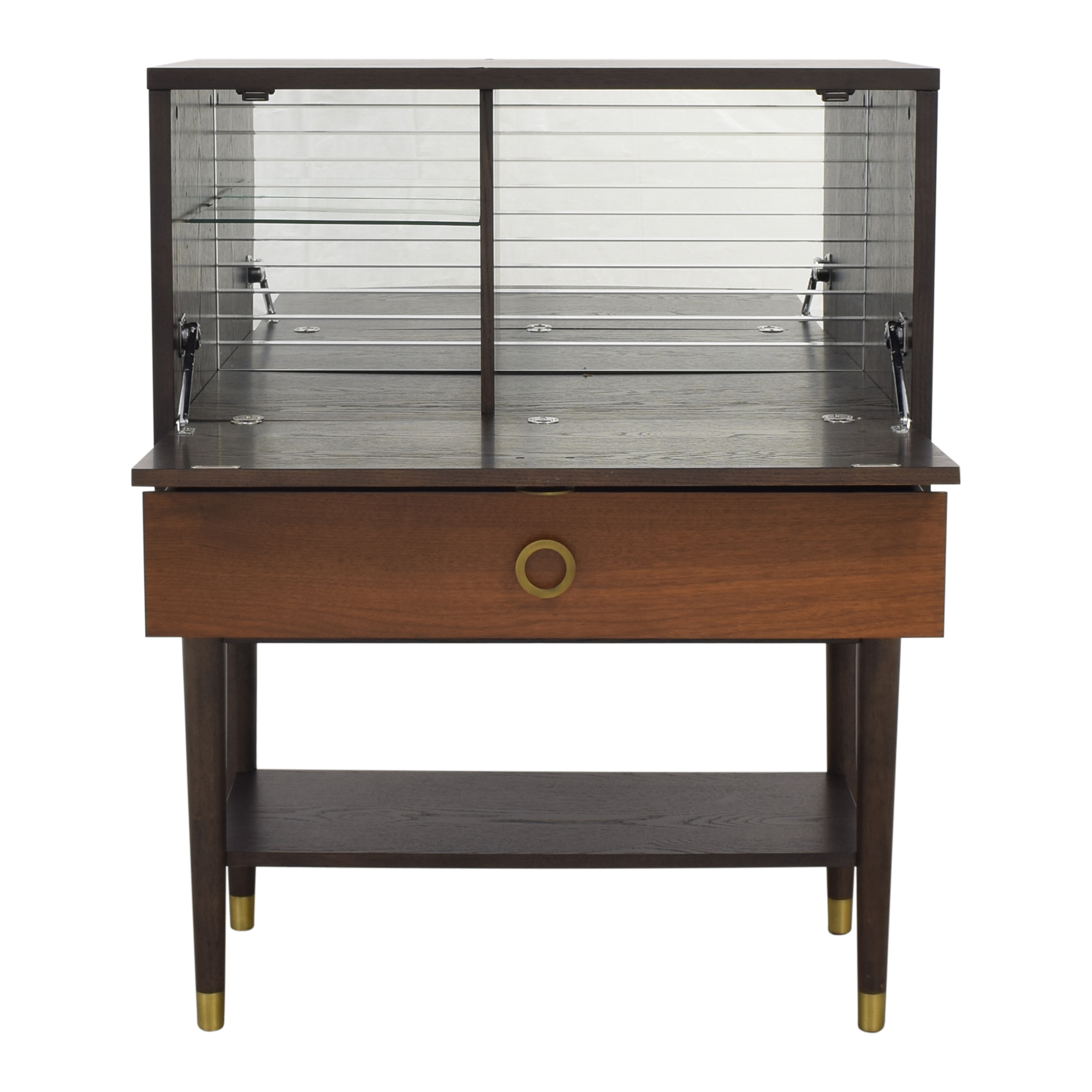 buy West Elm West Elm Dobson Flip Down Bar Cabinet online