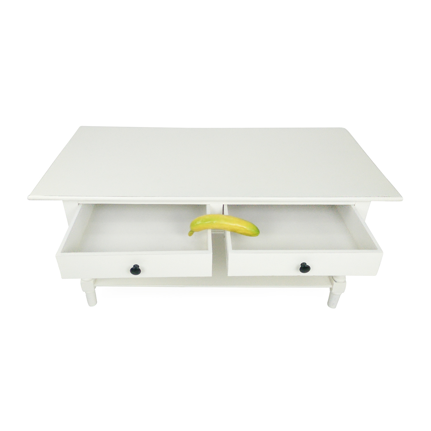 35% off - macy's macy's white two-drawer coffee table / tables