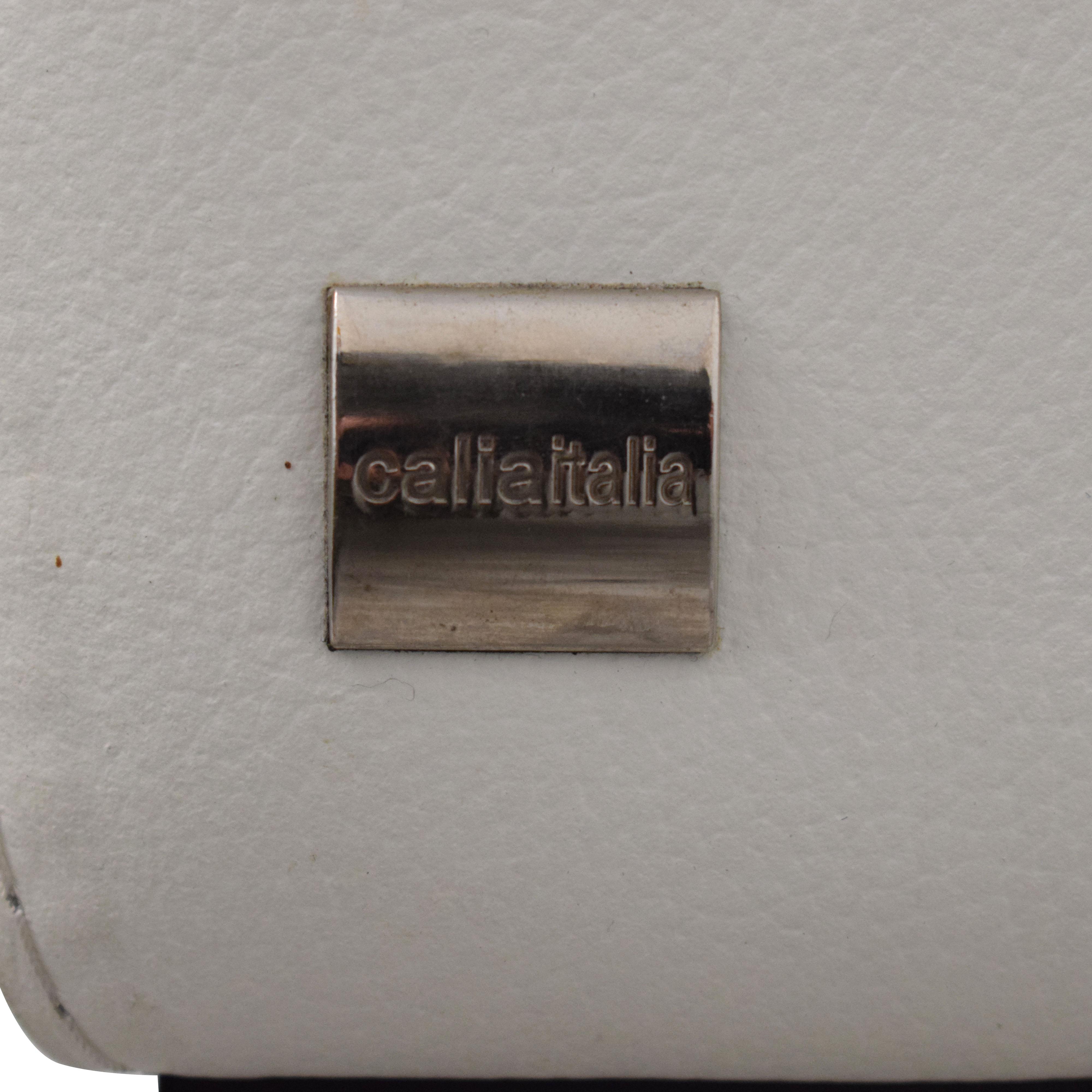 Calia Italia Calia Italia Soho 3-Seat Leather Couch second hand