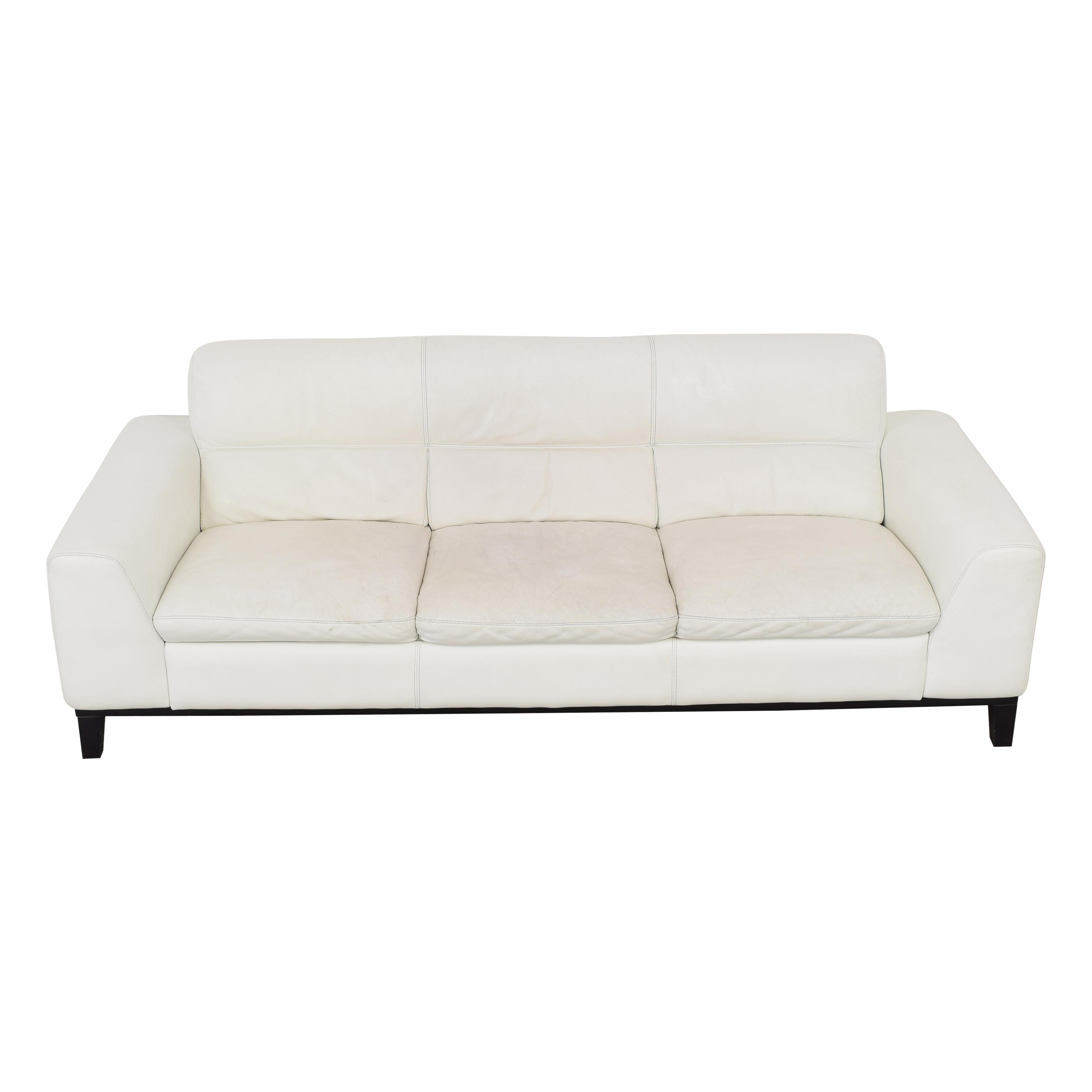 Calia Italia Calia Italia Soho 3-Seat Leather Couch nj