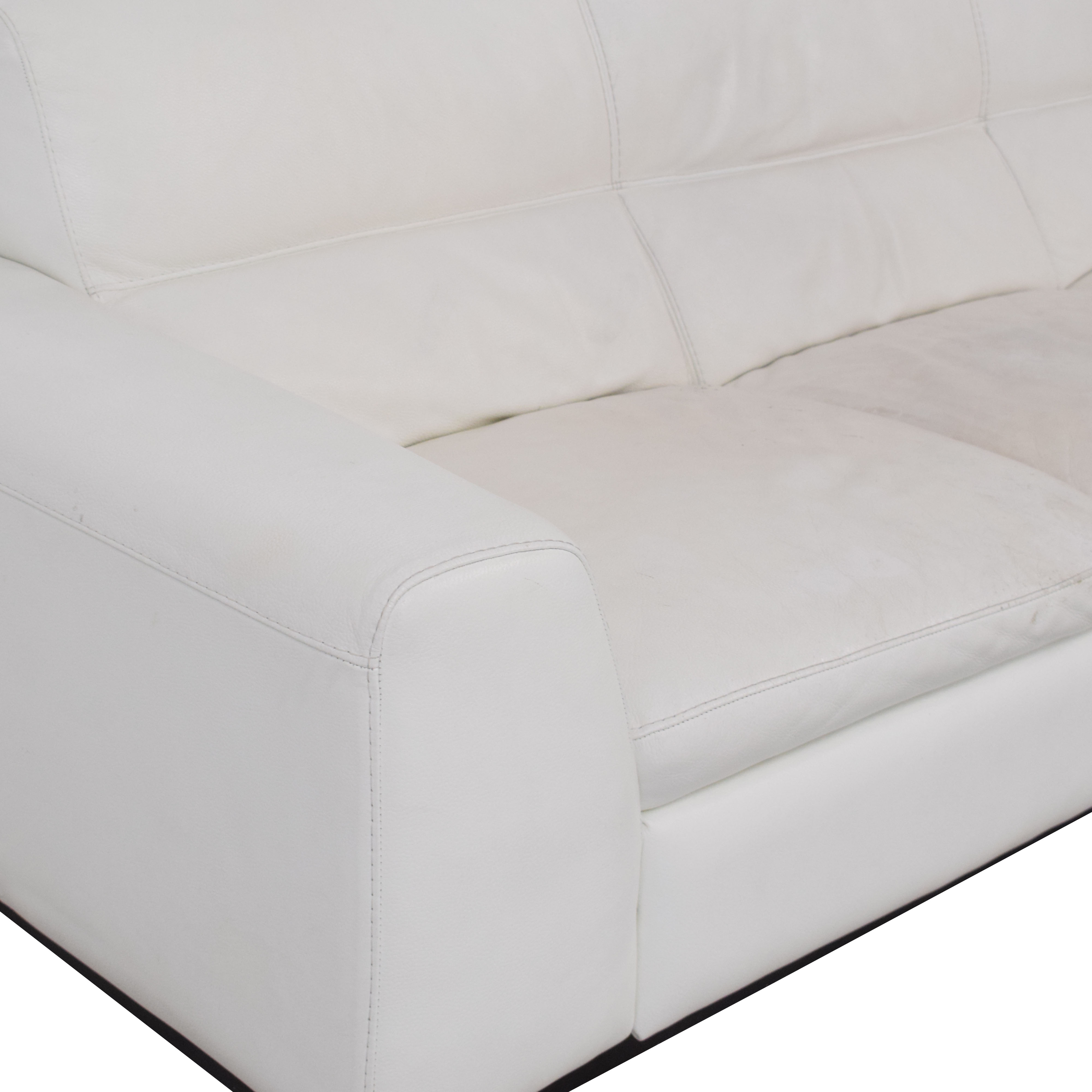 Calia Italia Calia Italia Soho 3-Seat Leather Couch