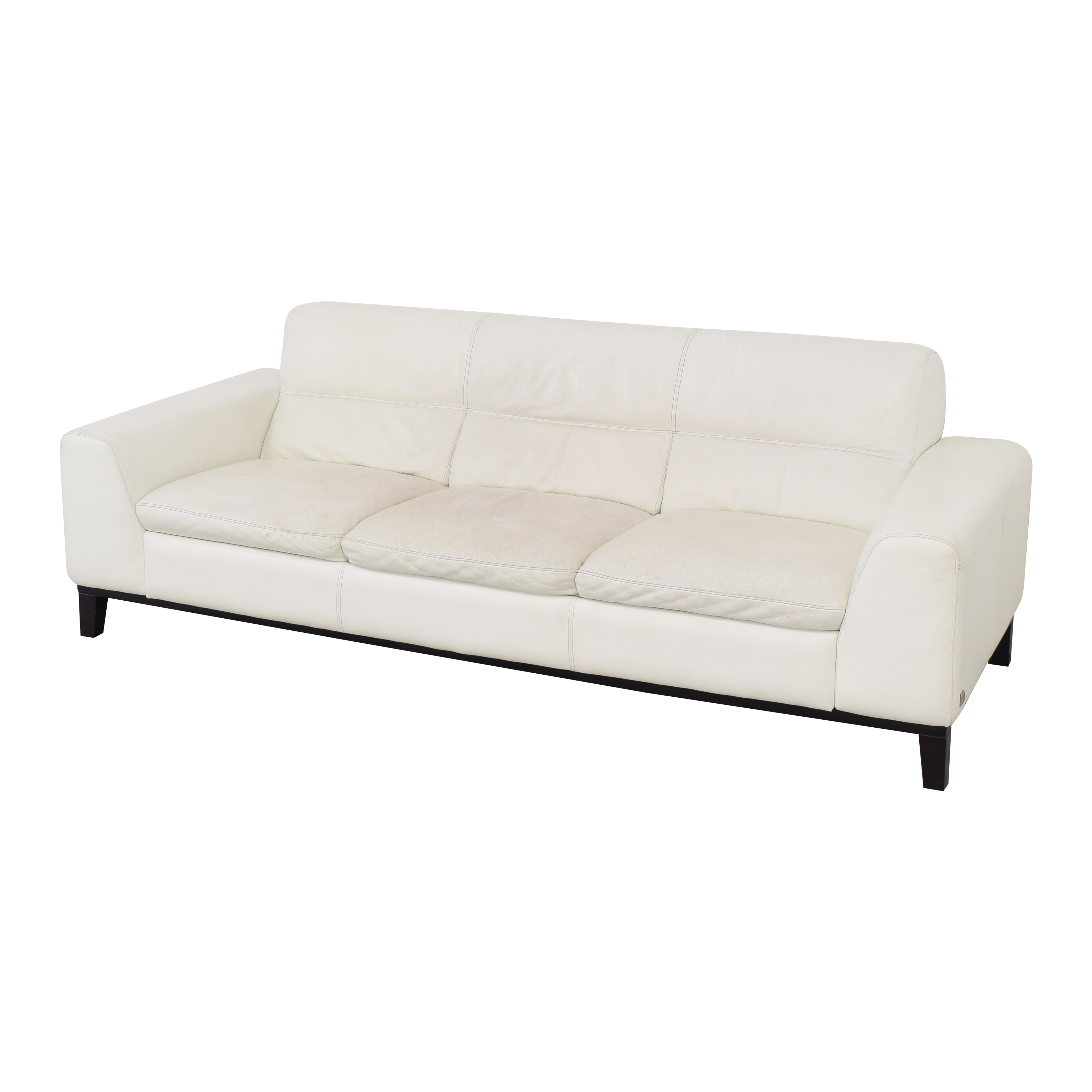 Calia Italia Calia Italia Soho 3-Seat Leather Couch dimensions