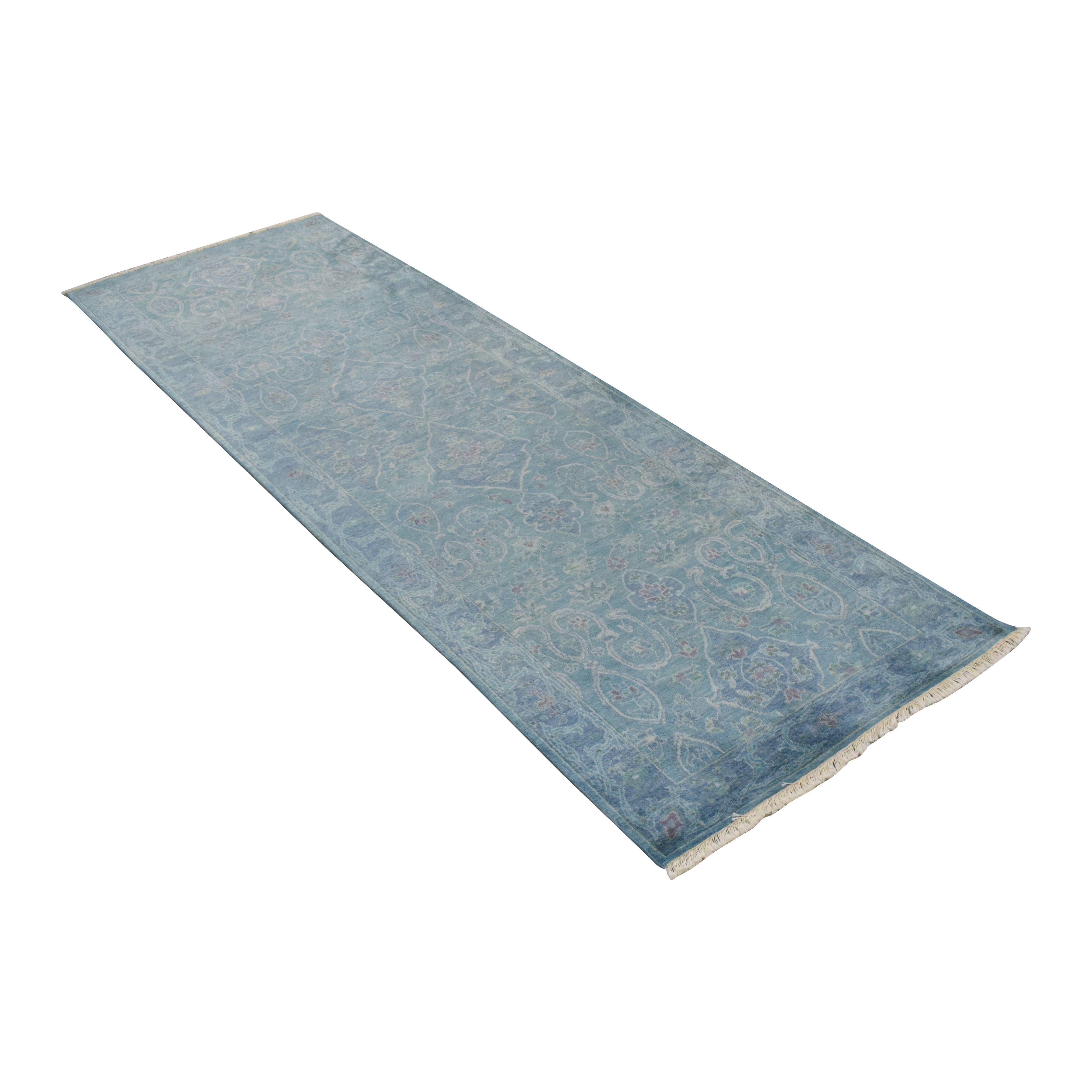 Williams Sonoma Home Arabesque Haze Hand-Knotted Runner Rug / Rugs