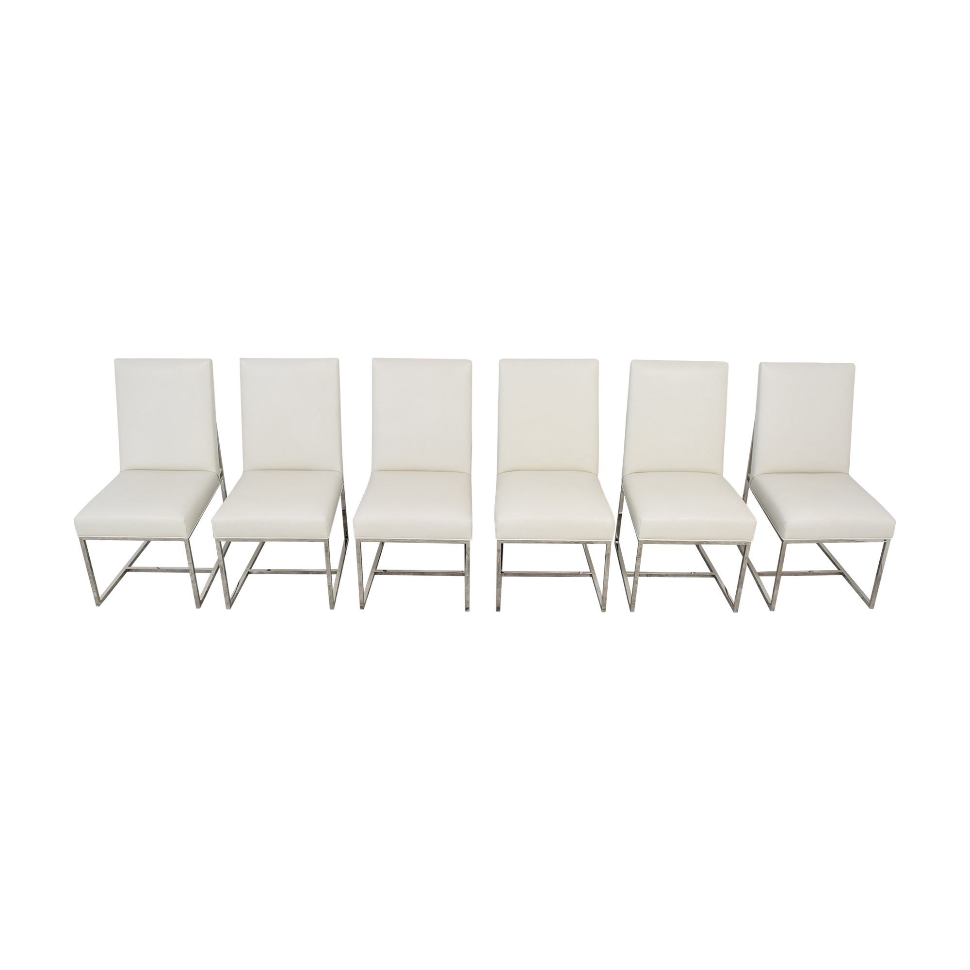 Restoration Hardware Restoration Hardware Grant Leather Side Chairs