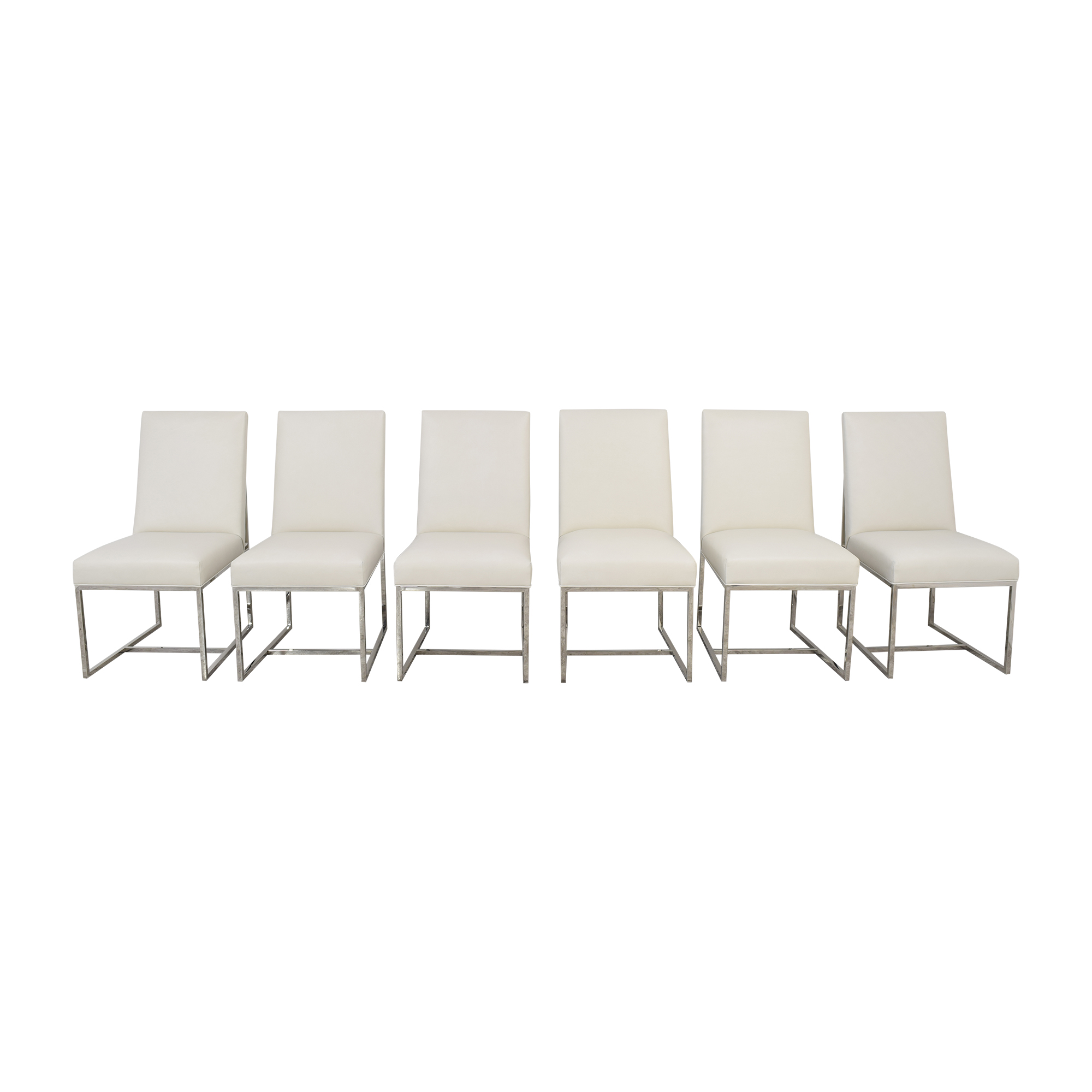Restoration Hardware Restoration Hardware Grant Leather Side Chairs Chairs