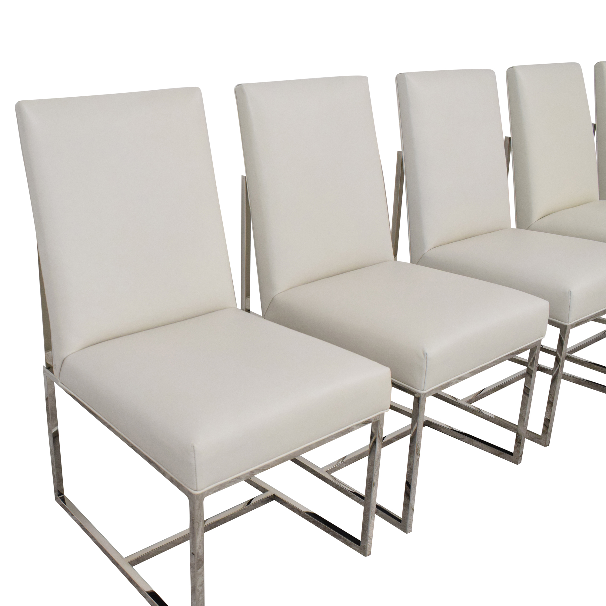 Restoration Hardware Restoration Hardware Grant Leather Side Chairs coupon