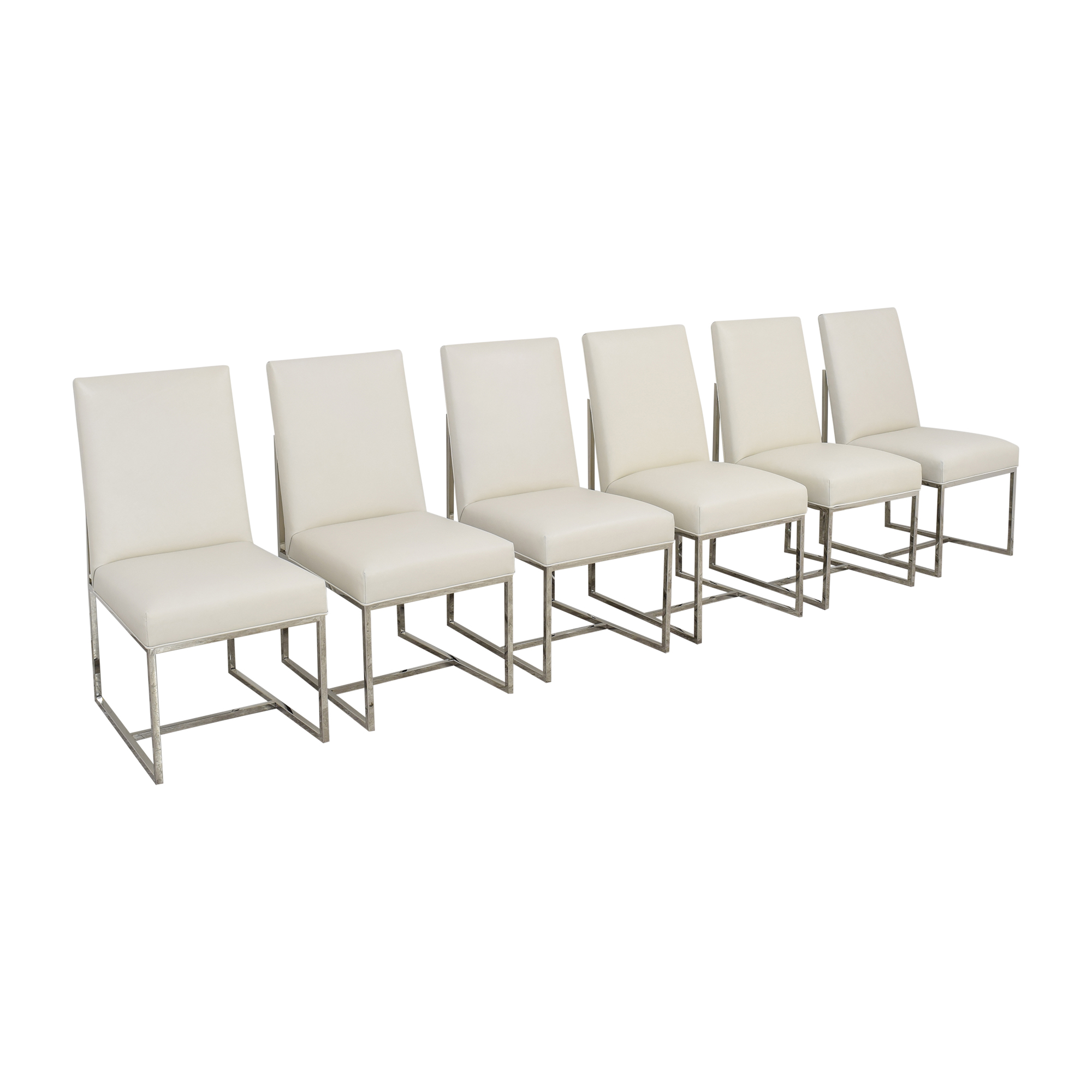 Restoration Hardware Restoration Hardware Grant Leather Side Chairs nj