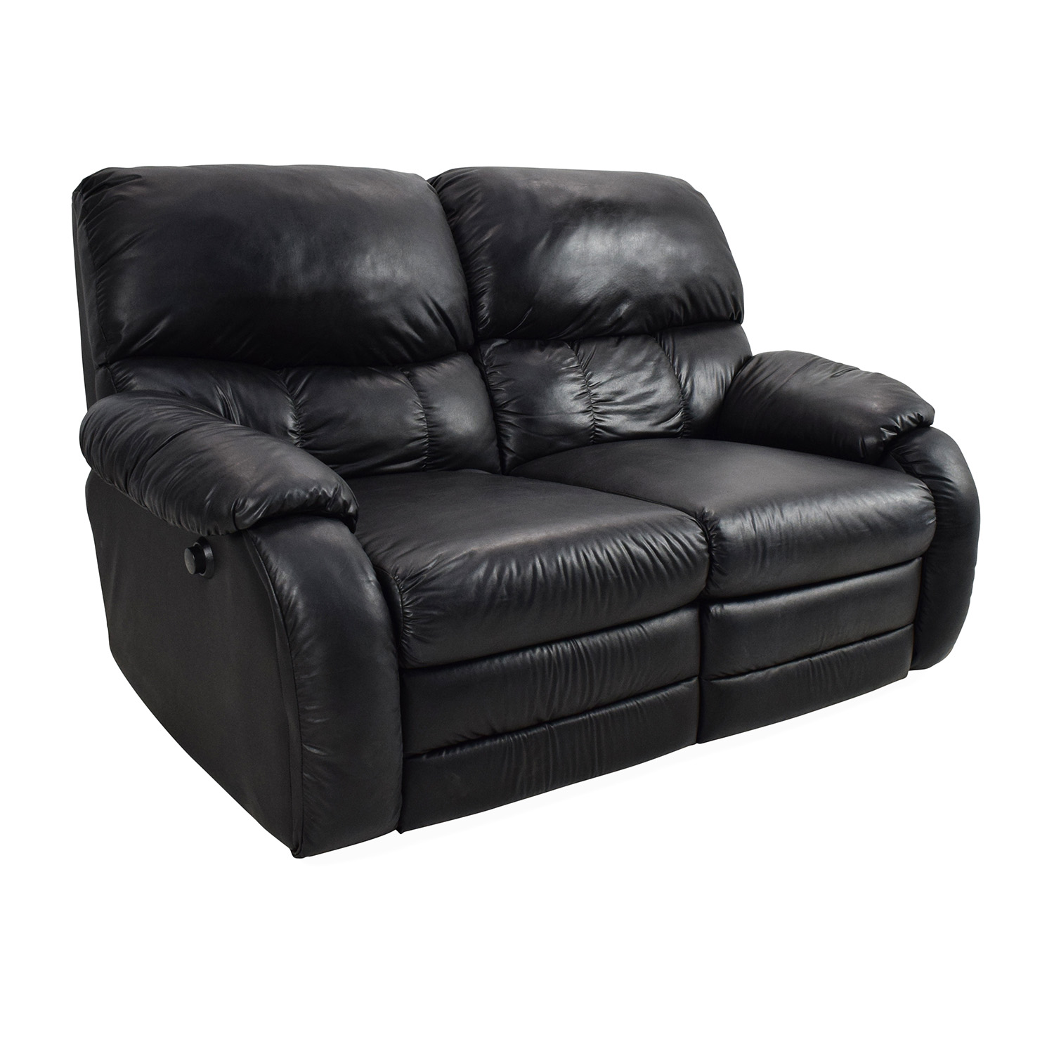 68 Off Black Leather Reclining 2 Seater Sofas