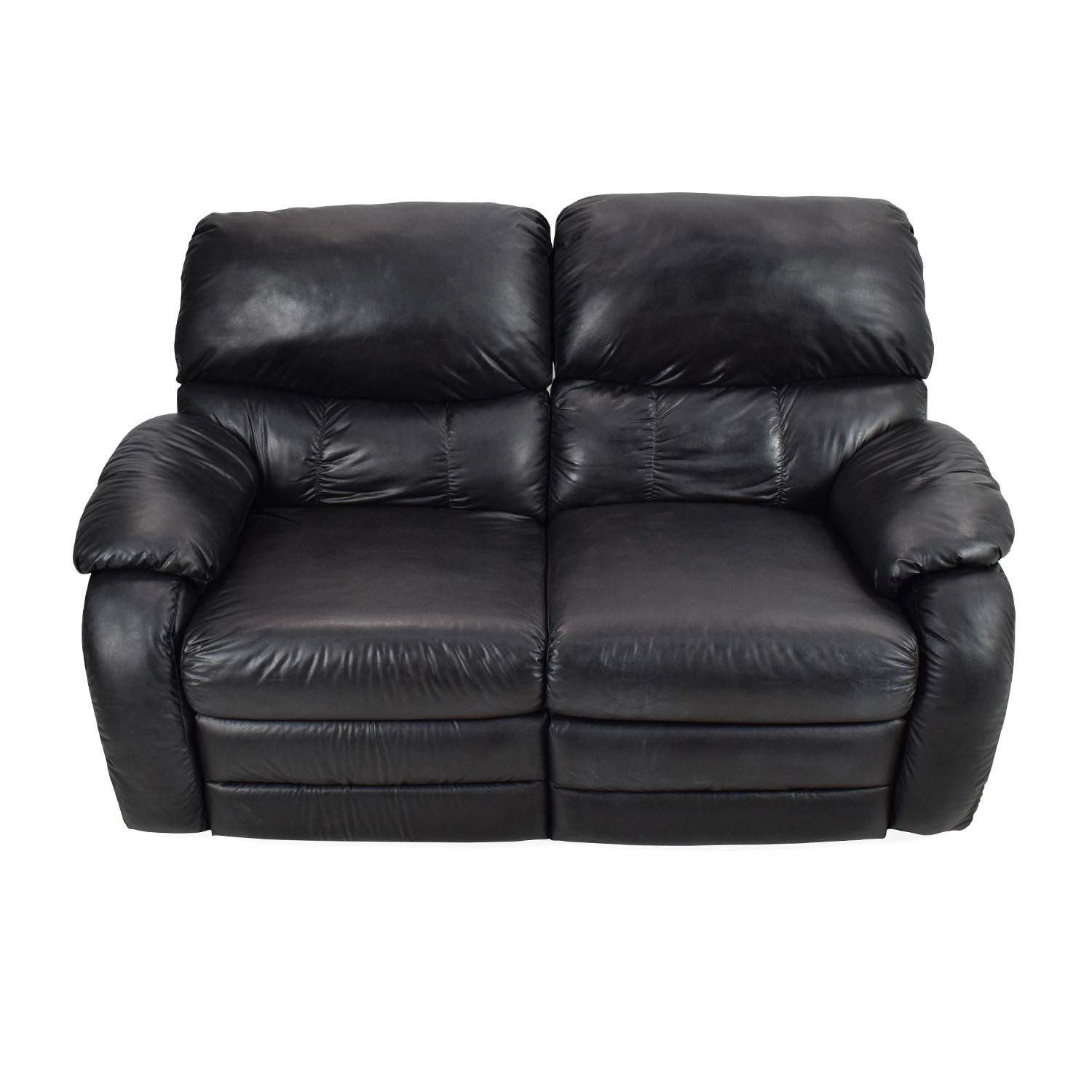 shop Black Leather Reclining 2-Seater