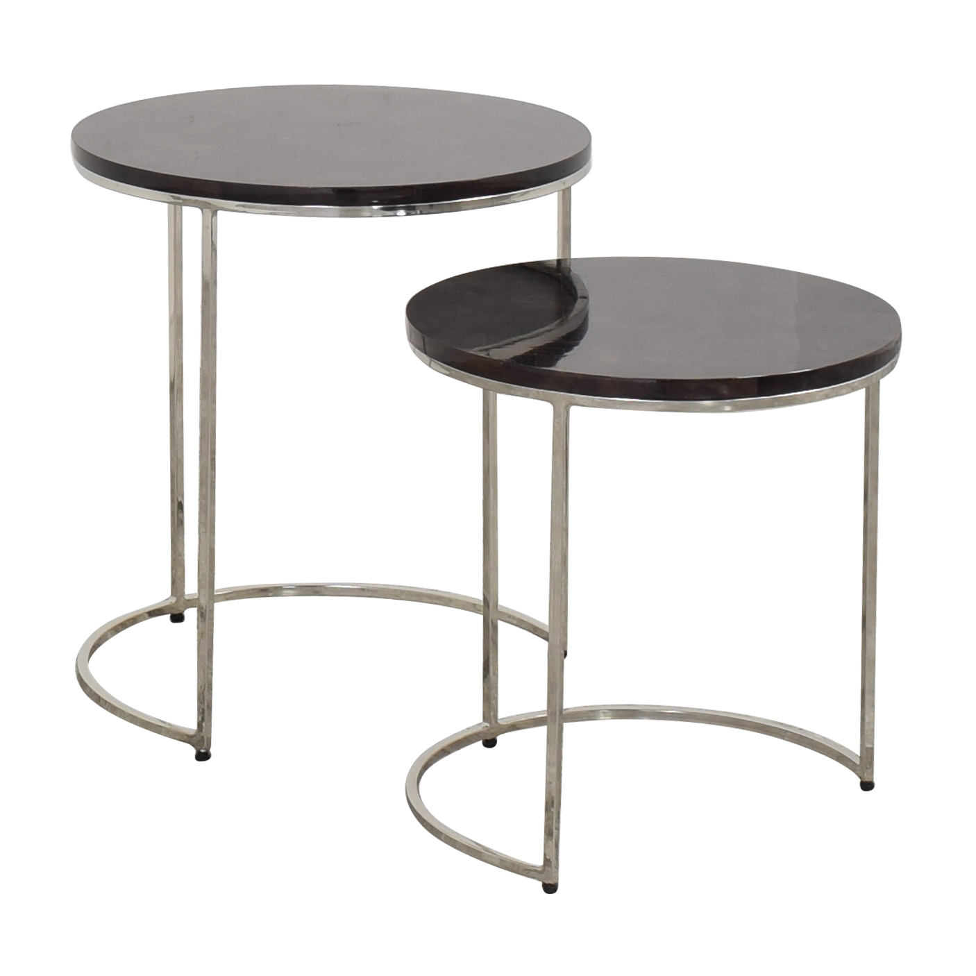 Williams Sonoma Antigua Pen Shell Nesting Tables / Tables